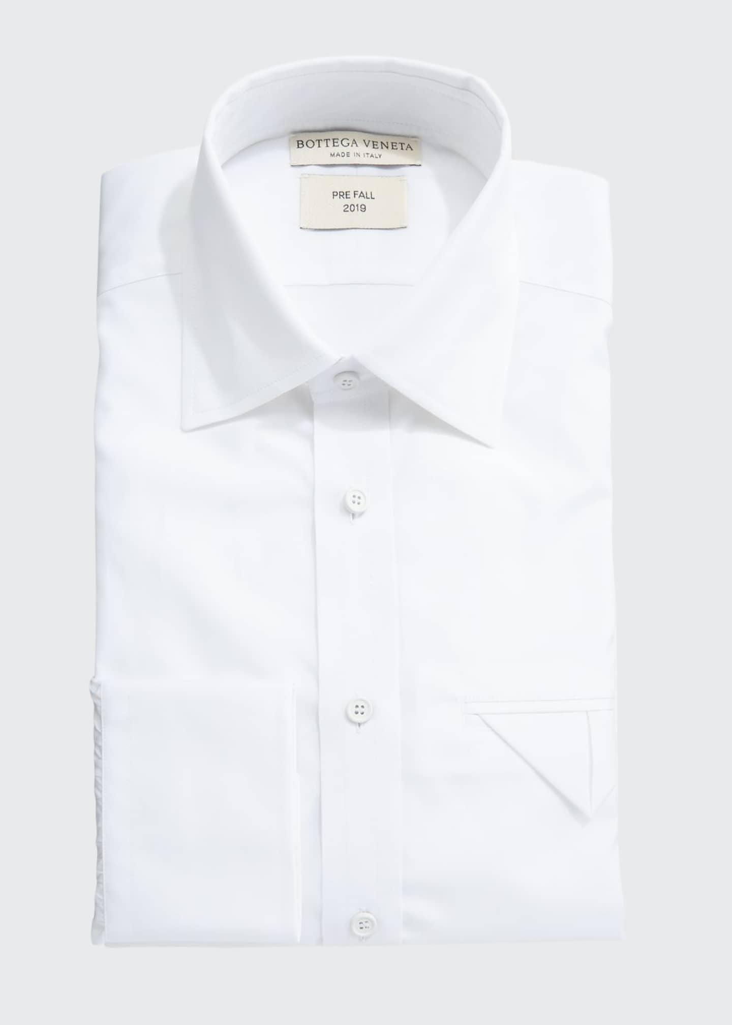 Bottega Veneta Men's Poplin Egyptian Cotton Dress Shirt