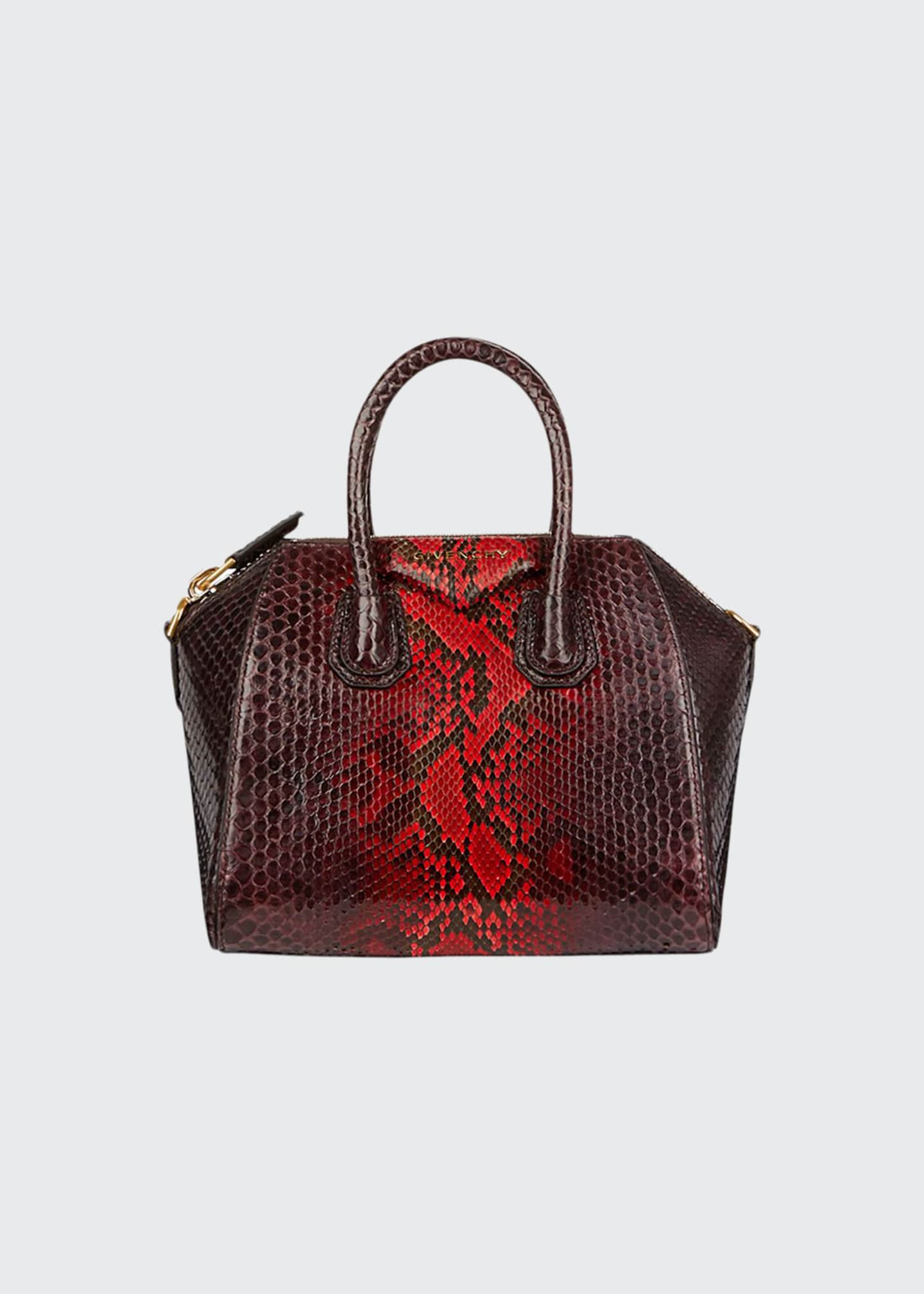 Givenchy Antigona Mini Shiny Python Satchel Bag