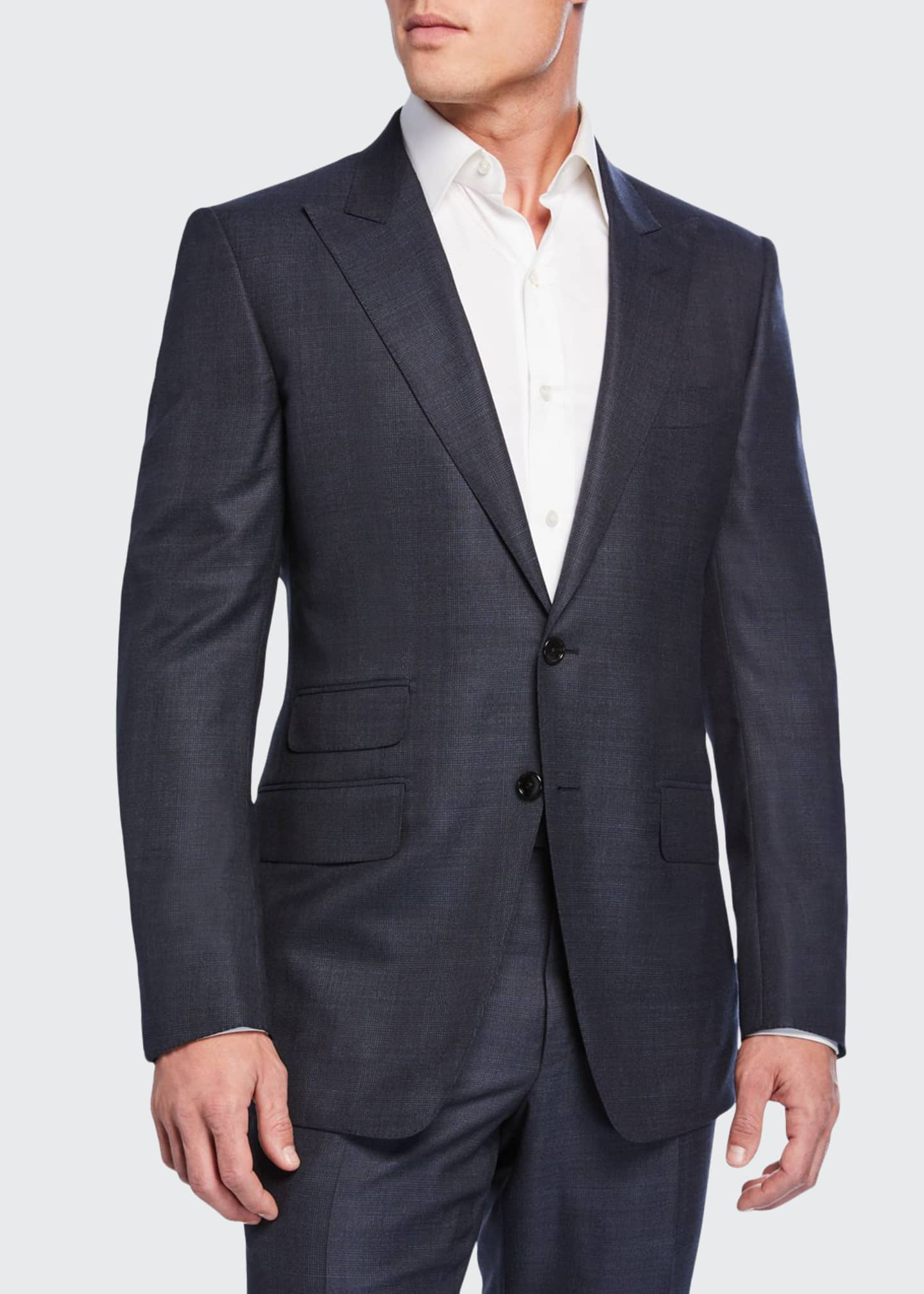 TOM FORD Men's O'Connor Check Wool Two-Piece Suit