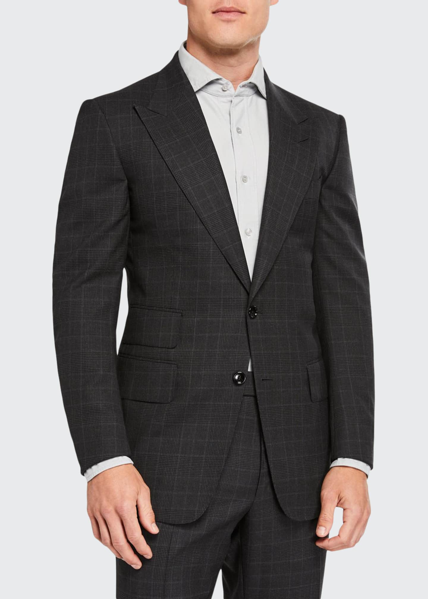 Image 1 of 4: Men's Windsor Prince-of-Wales Check Two-Piece Suit