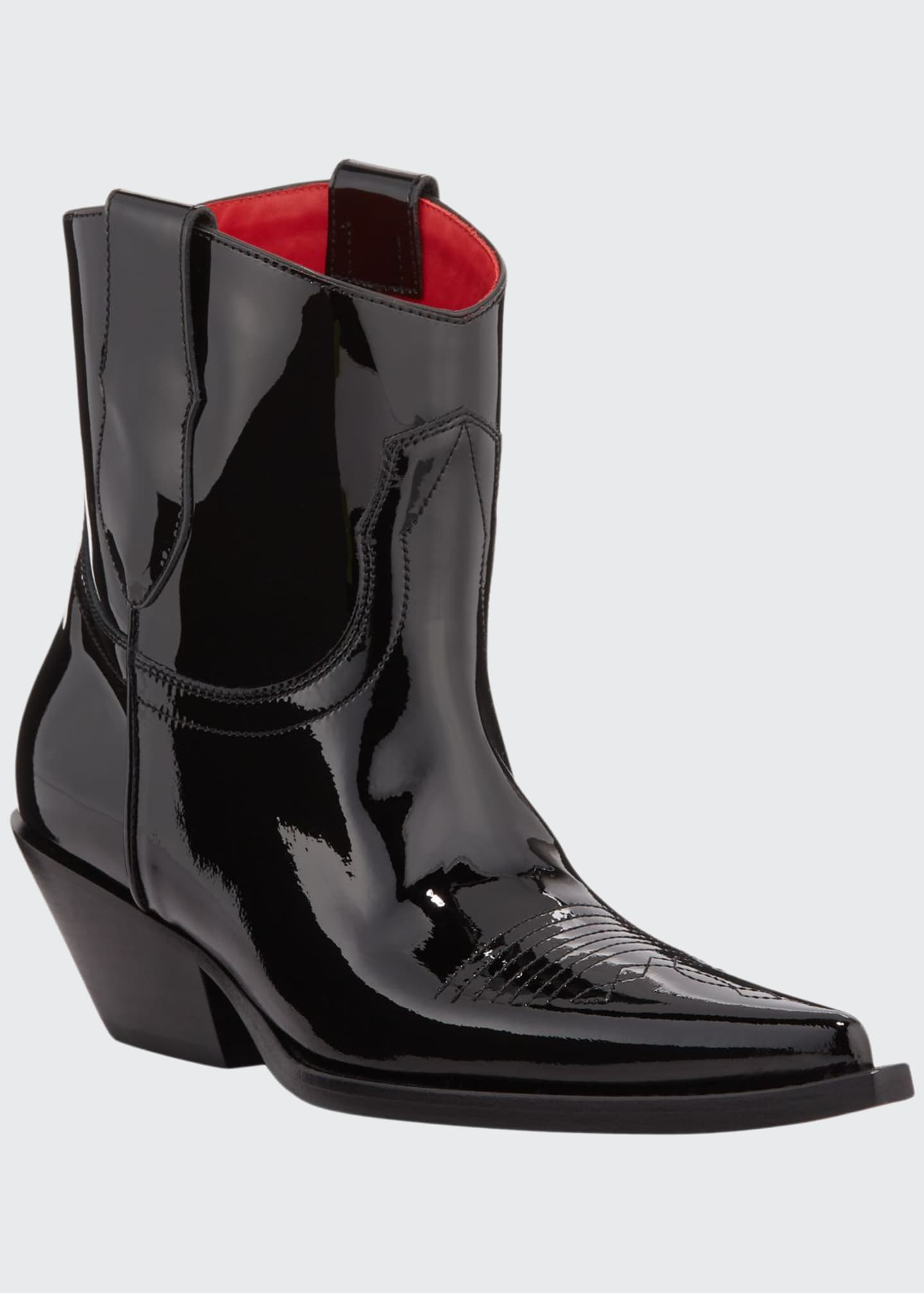 Maison Margiela Santiag Patent Pointed Booties
