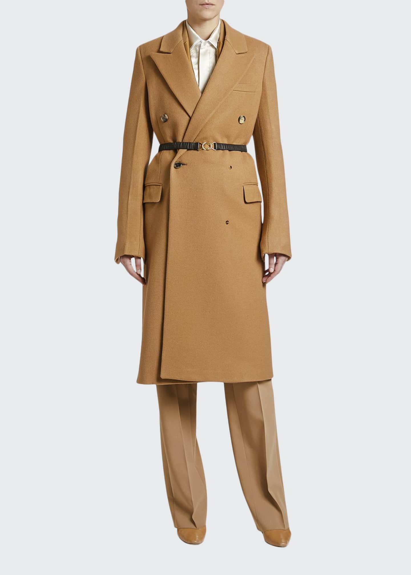 Bottega Veneta Compact Wool Double-Breasted Coat