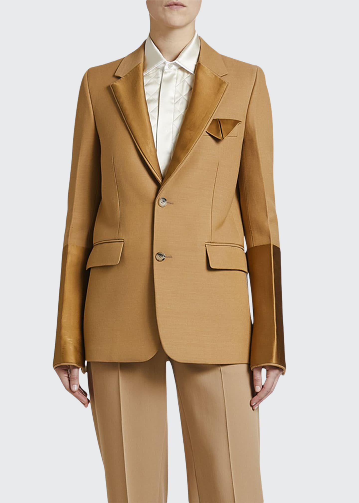 Bottega Veneta Compact Dry Wool Scuba Jacket