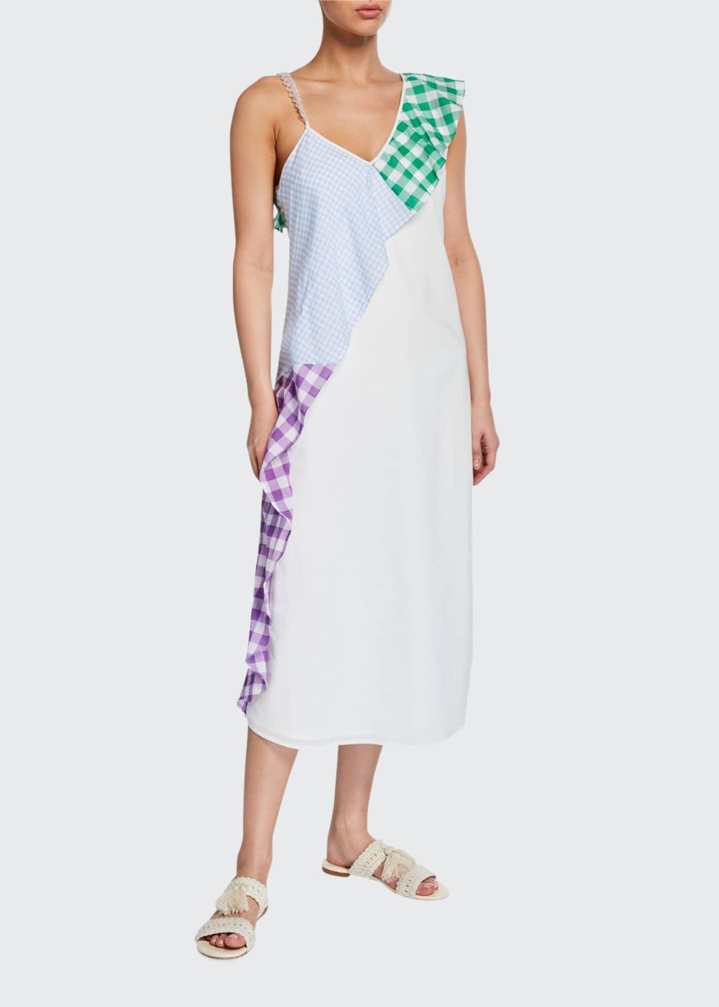 Marysia East End Gingham Ruffle Coverup Dress