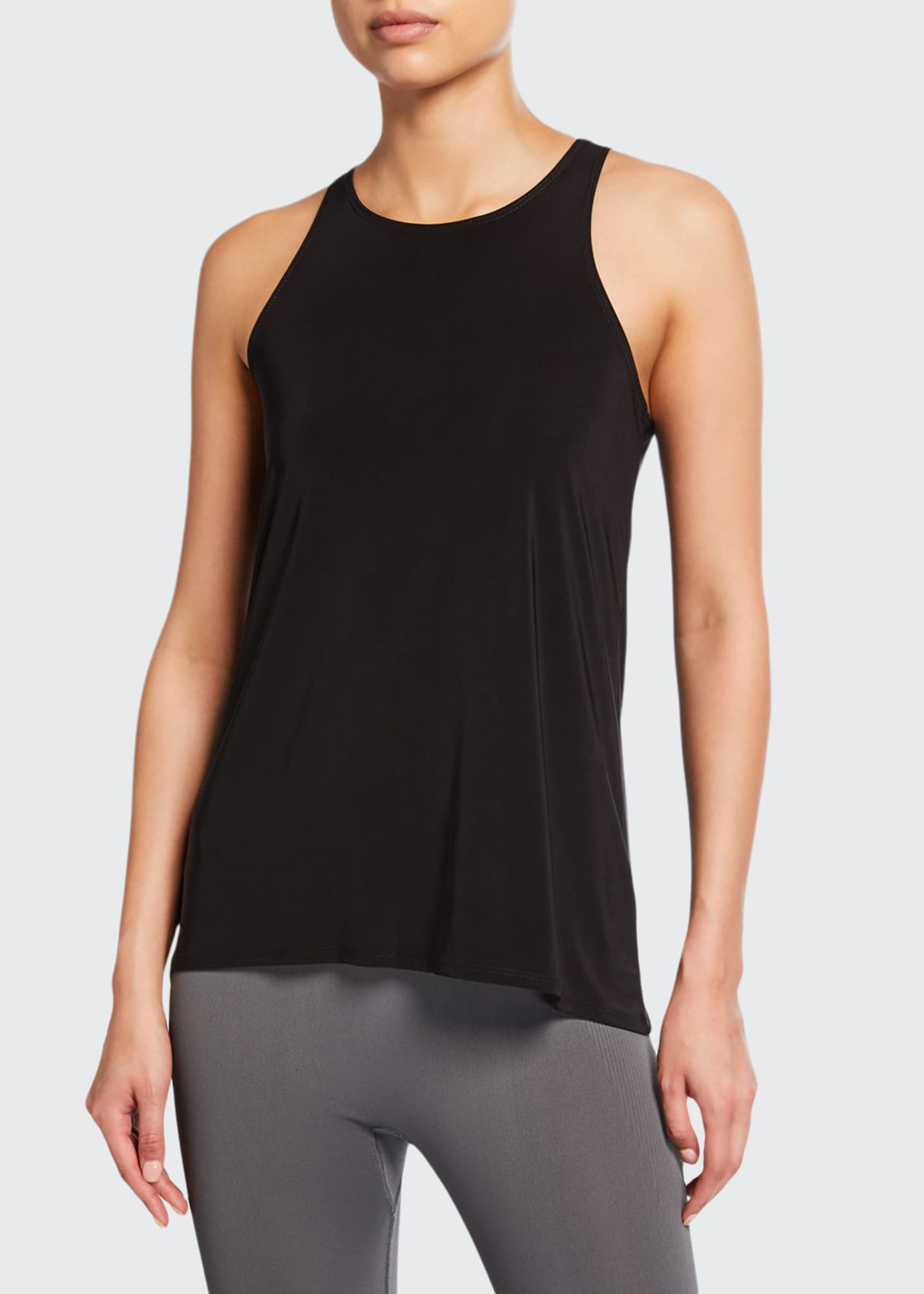Image 1 of 2: Crewneck Tie-Back One Size Tank Top