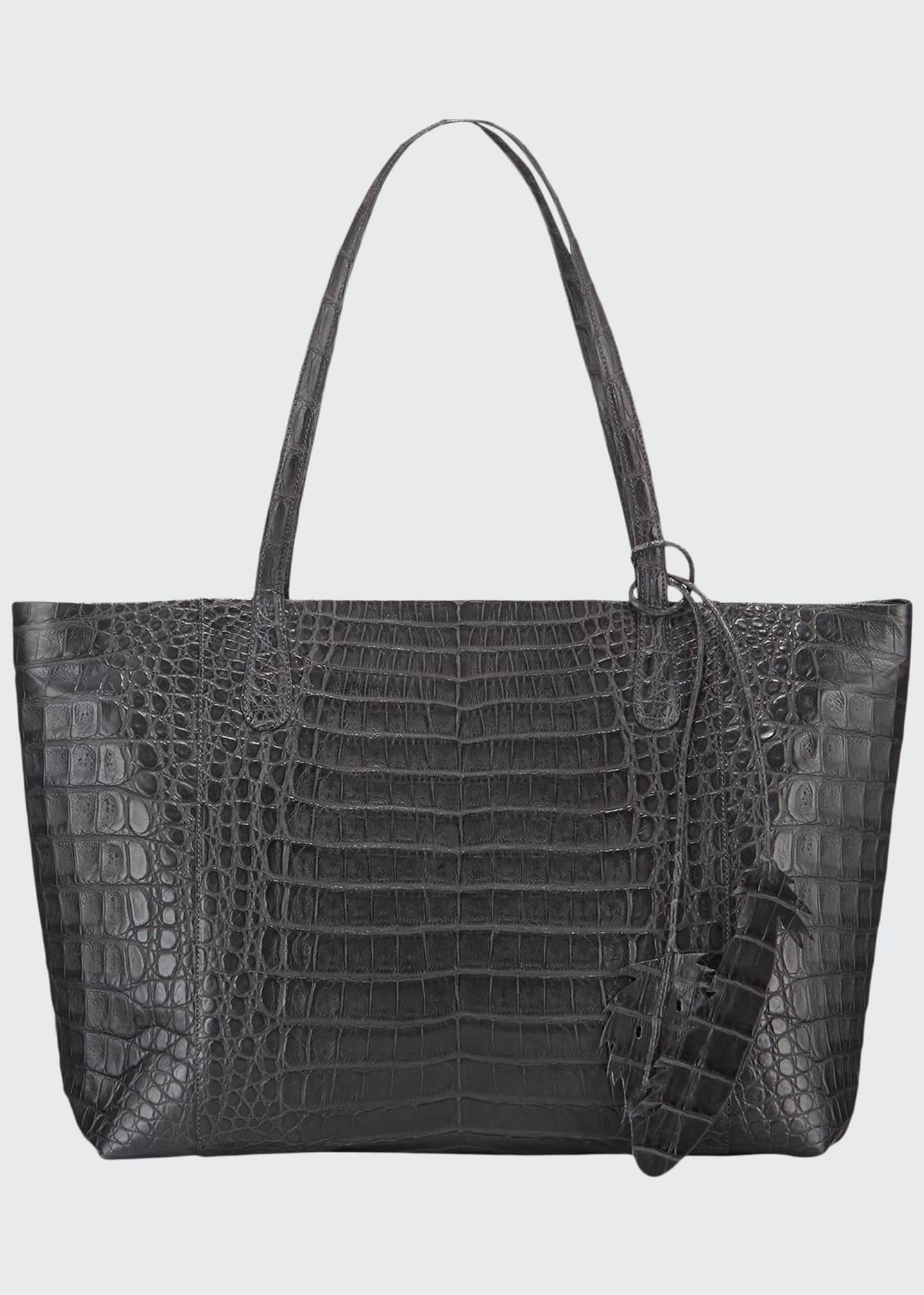 Image 1 of 3: Erica Crocodile Tote Bag