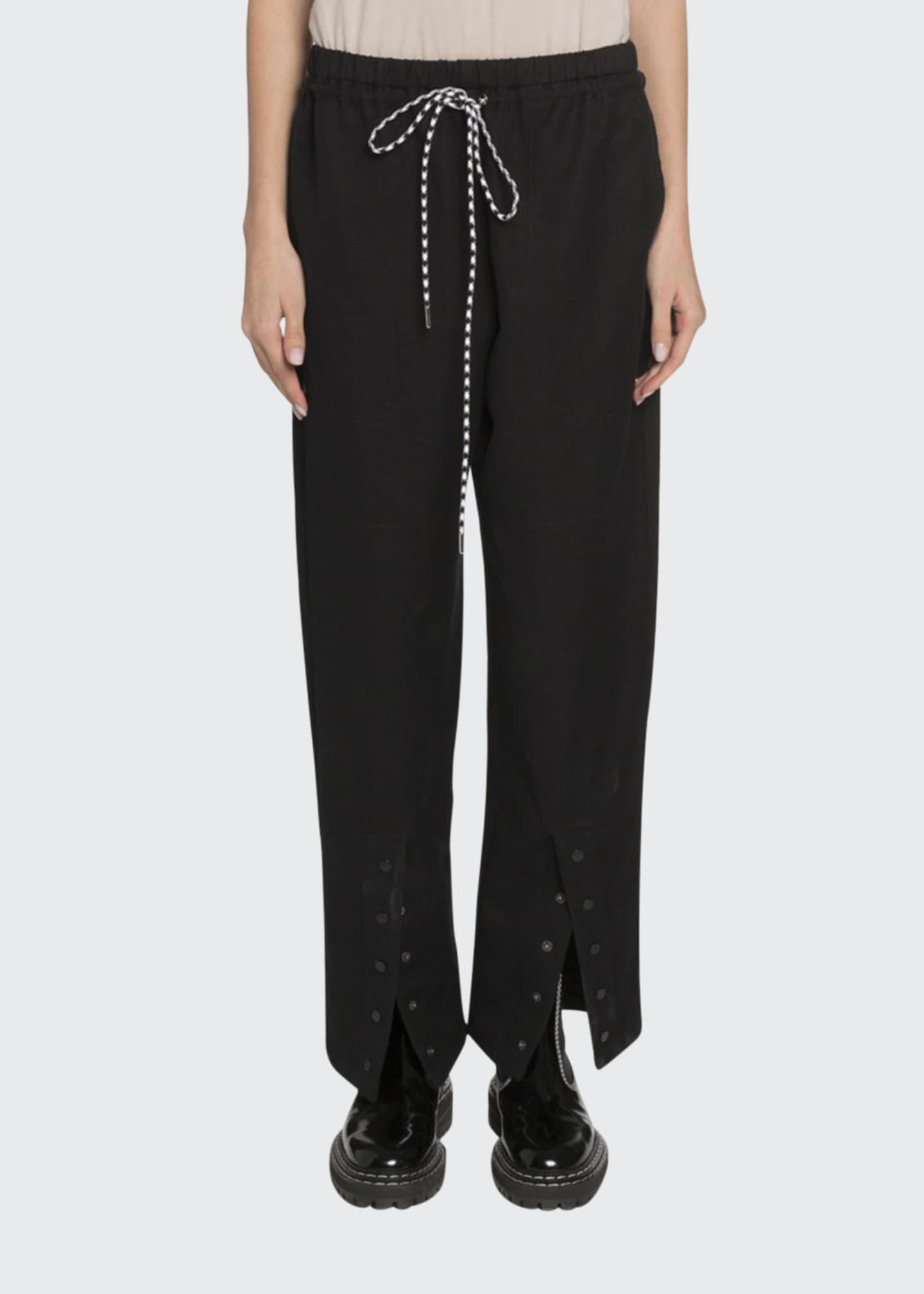 Proenza Schouler White Label Washed Cotton Drawstring Pants