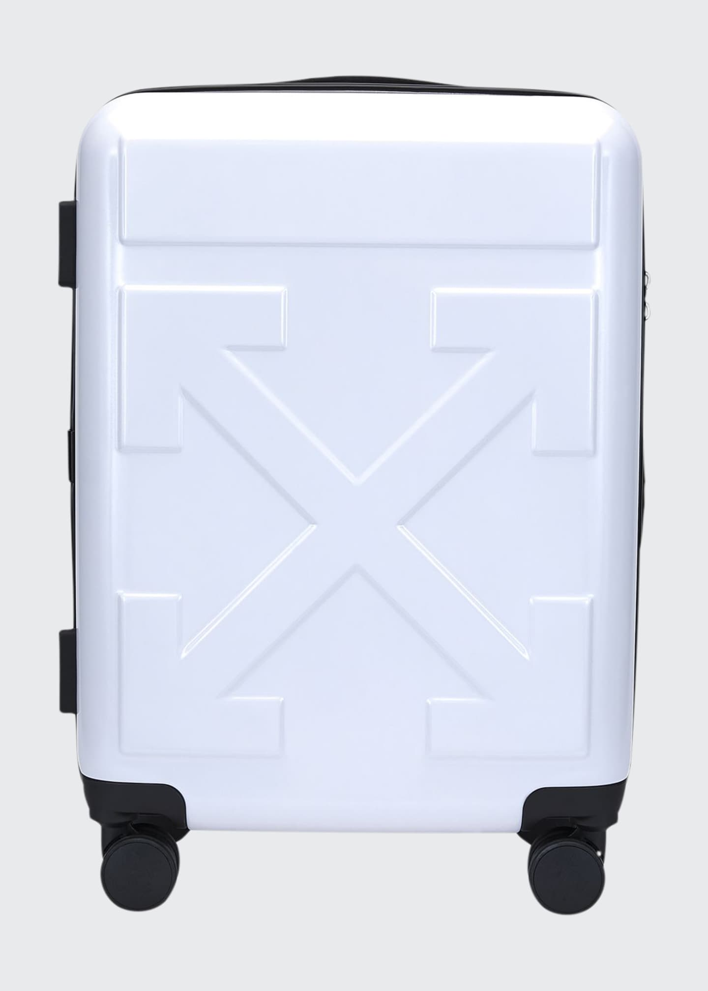Off-White Arrow Hard Shell Spinner Trolly Luggage, White