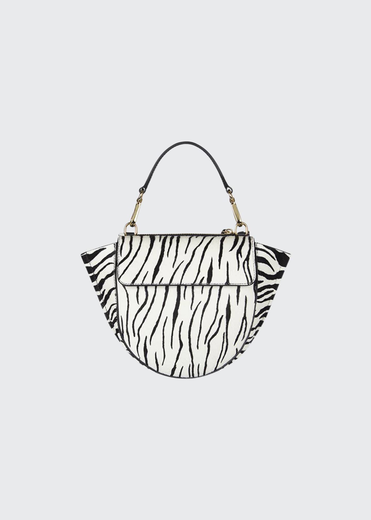 Image 1 of 1: Hortensia Mini Zebra Top Handle Bag