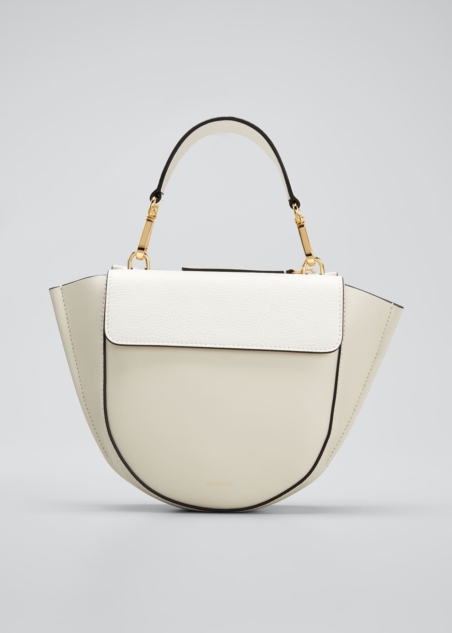 Image 1 of 5: Hortensia Mini Calf Top-Handle Bag