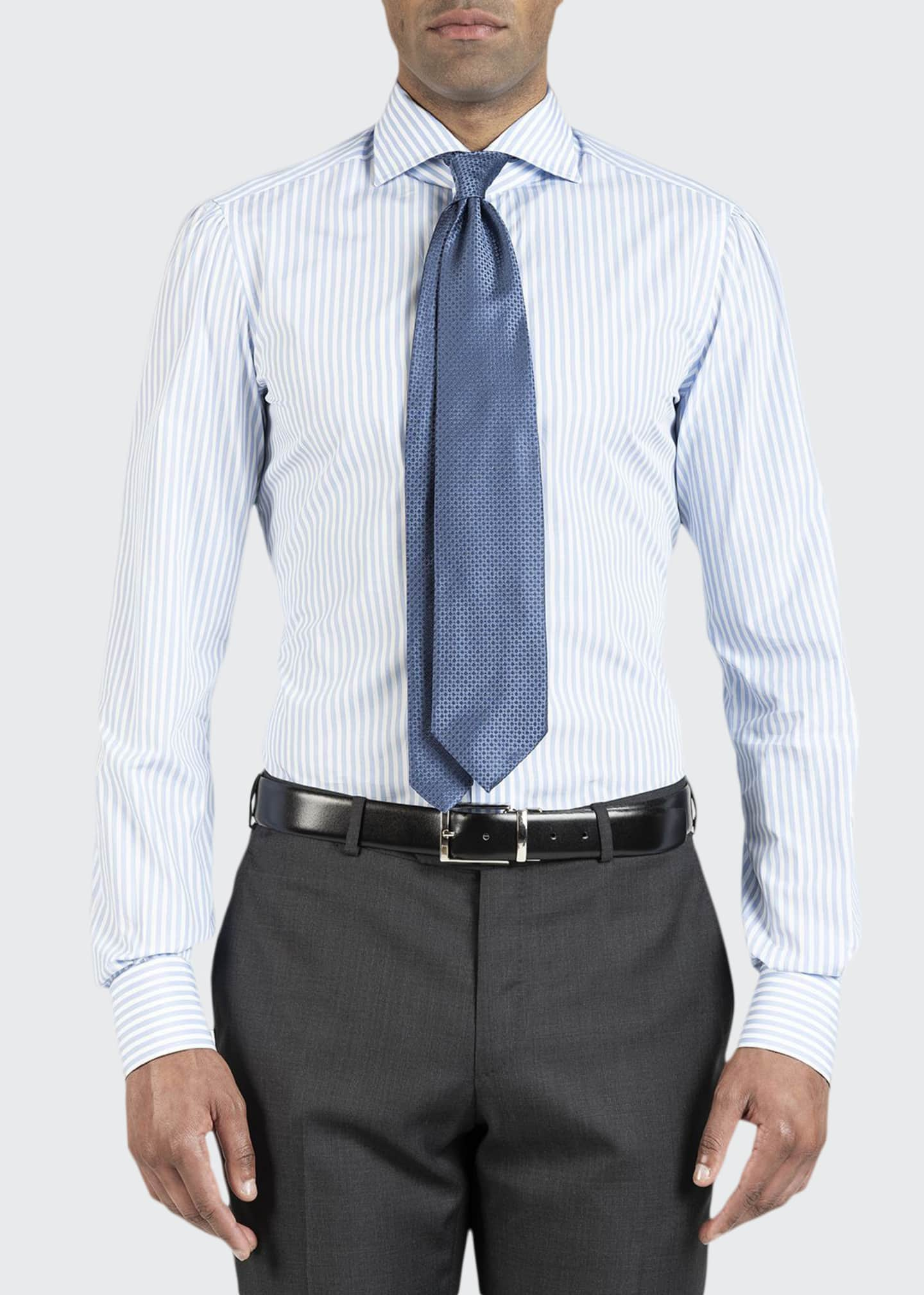 Image 1 of 4: Men's Bengal Stripe Dress Shirt
