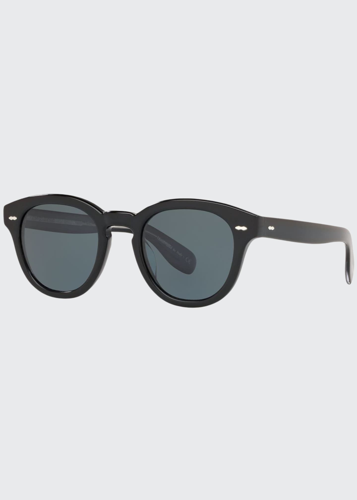 Image 1 of 2: Men's Rounded Bold Acetate Sunglasses