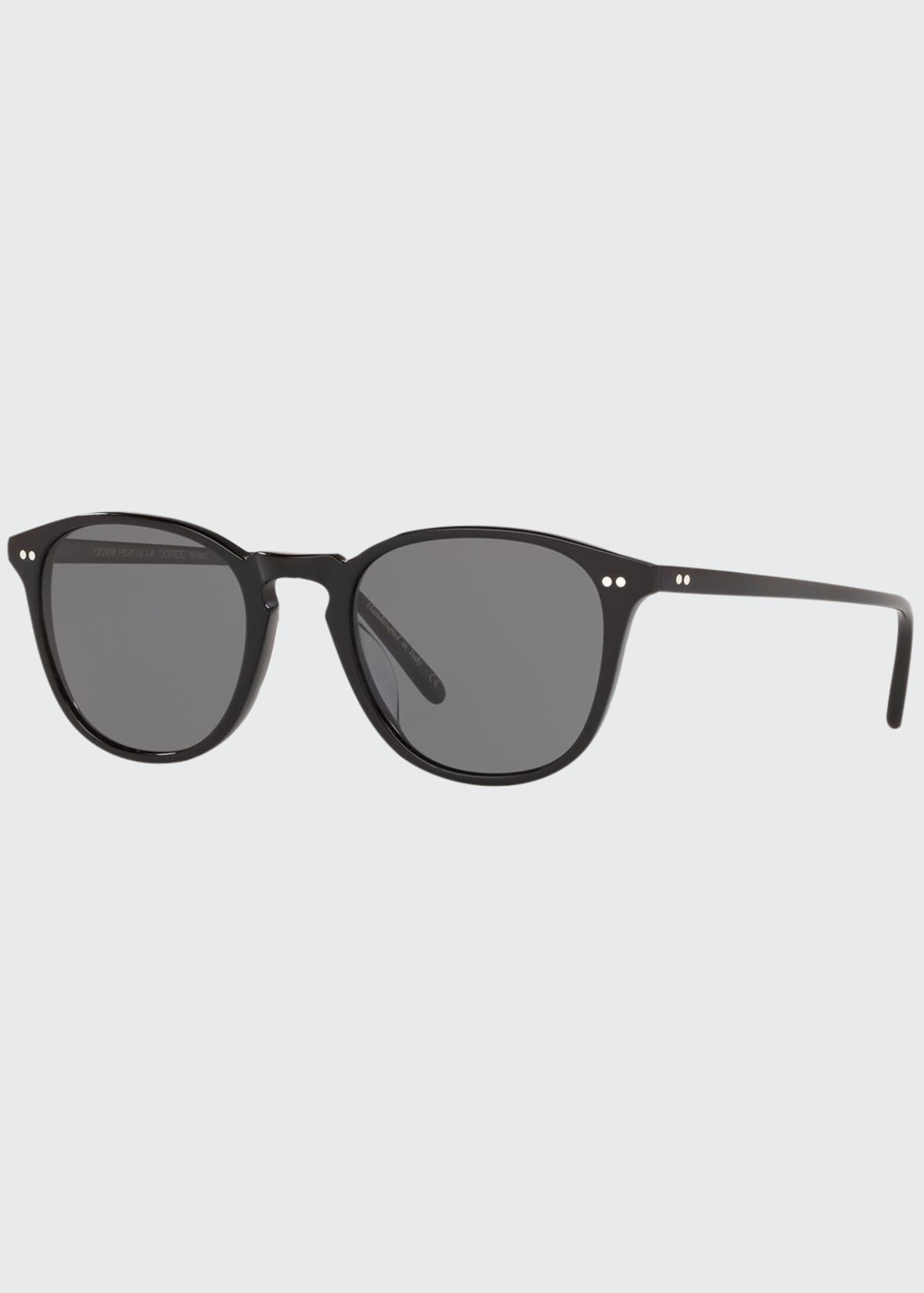 Image 1 of 2: Men's Forman L.A. Polarized Round Acetate Sunglasses