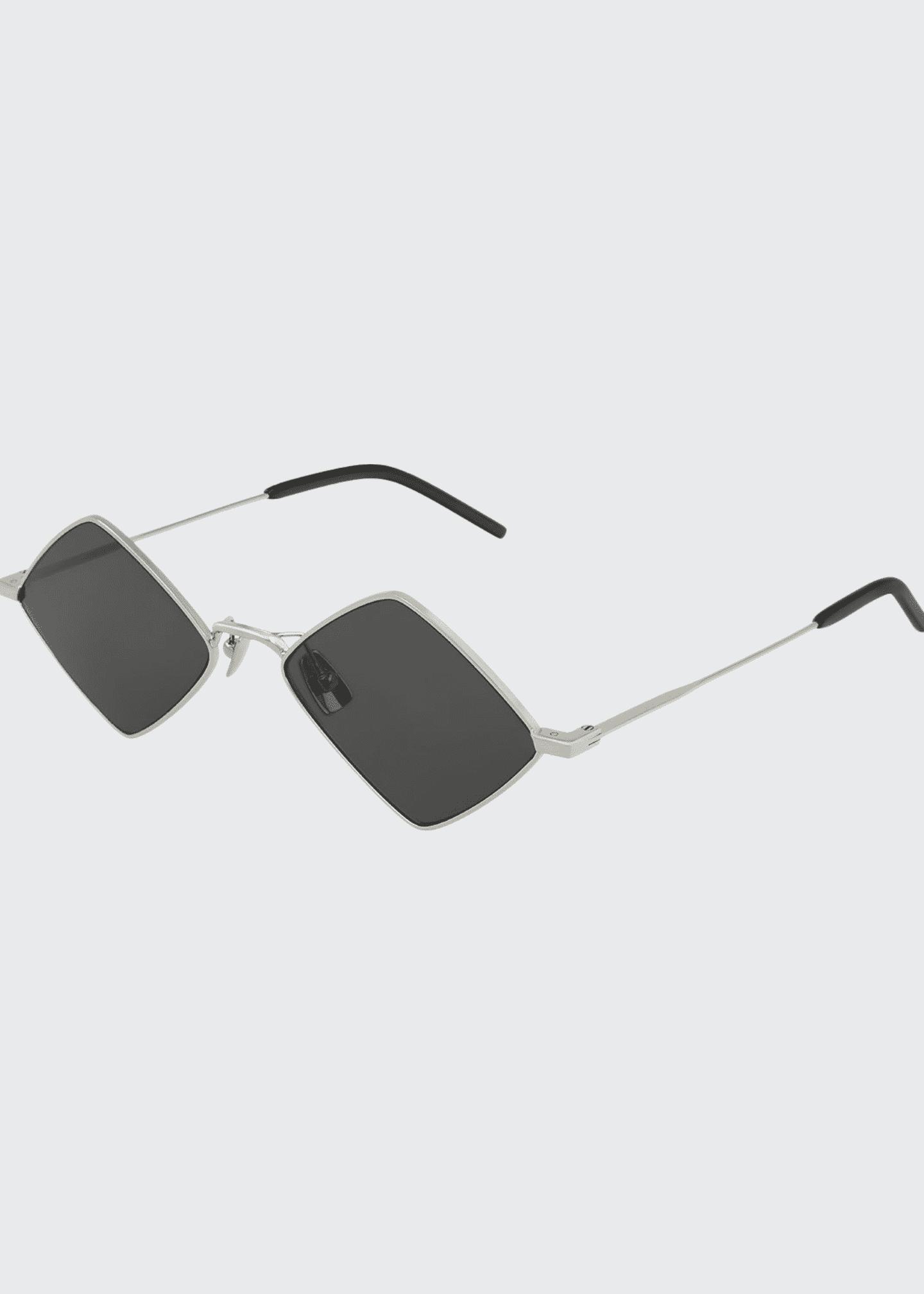 Saint Laurent Diamond Shaped Metal Sunglasses