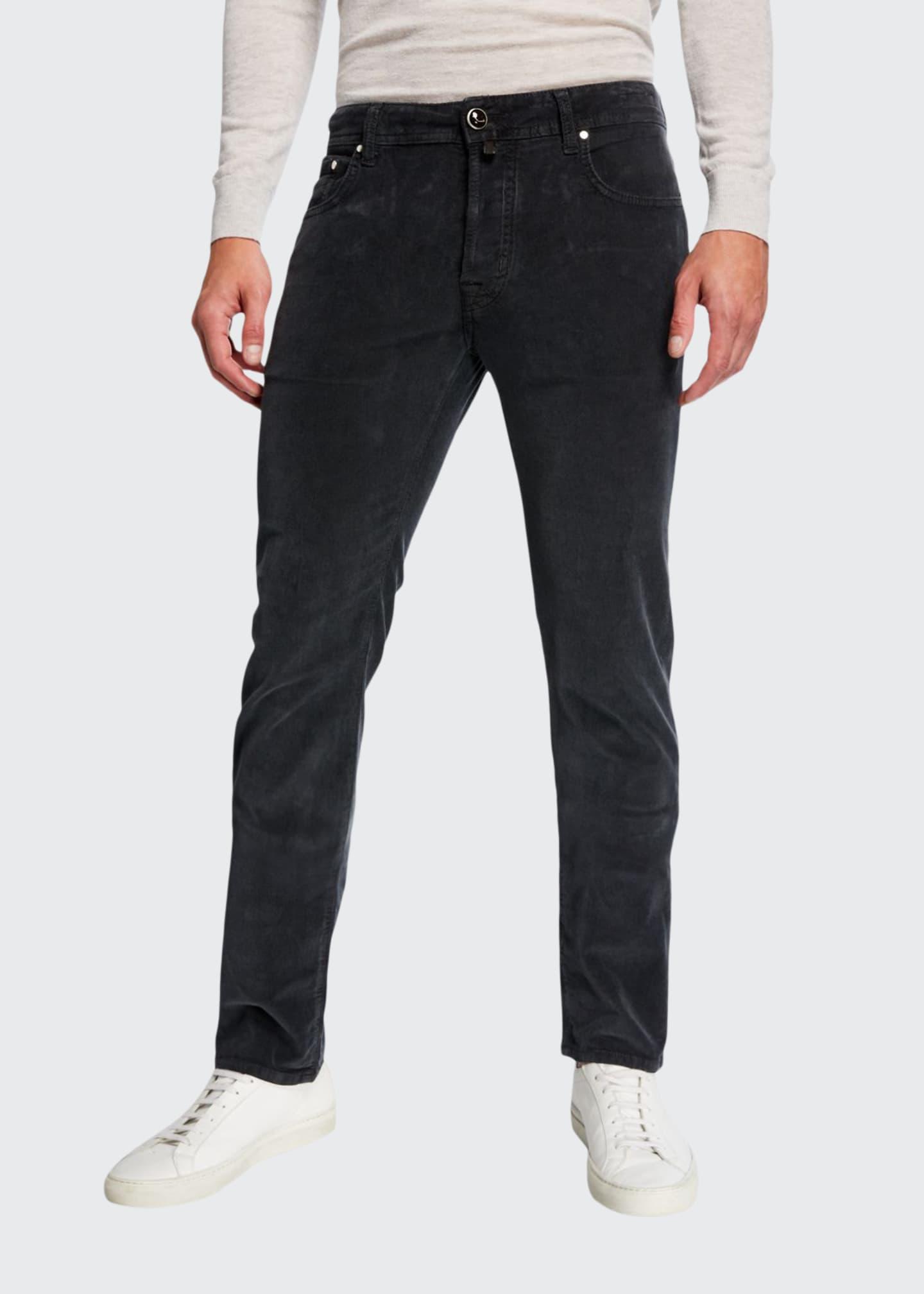 Jacob Cohen Men's 5-Pocket Stretch-Corduroy Pants, Gray