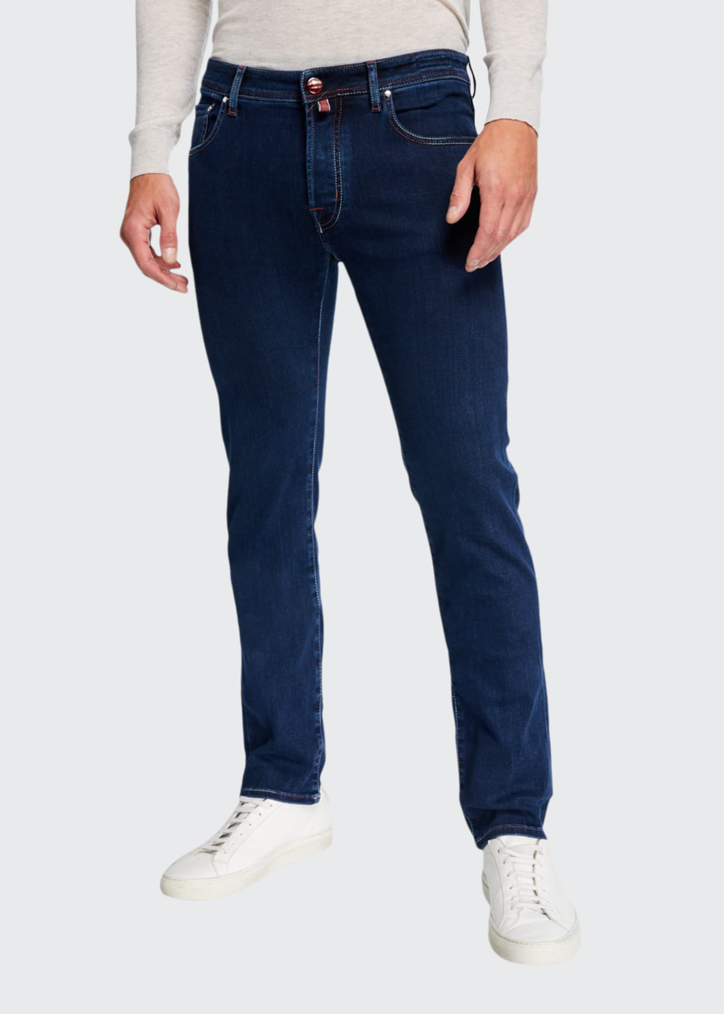 Jacob Cohen Men's Medium-Wash Tapered Jeans