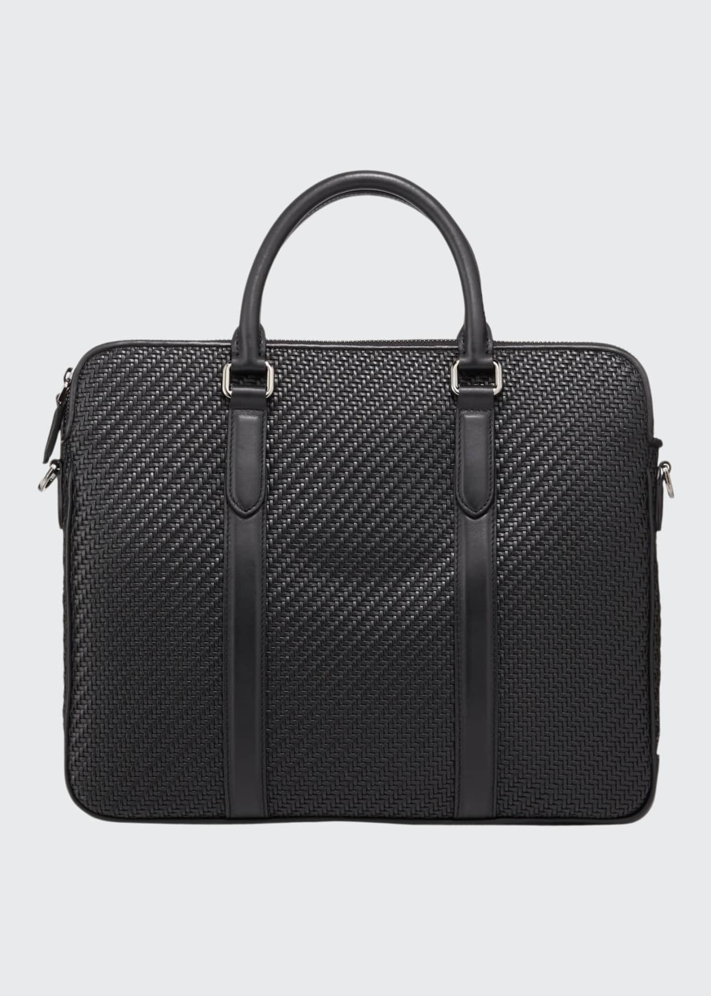 Ermenegildo Zegna Men's Pelle Tessuta Business Bag