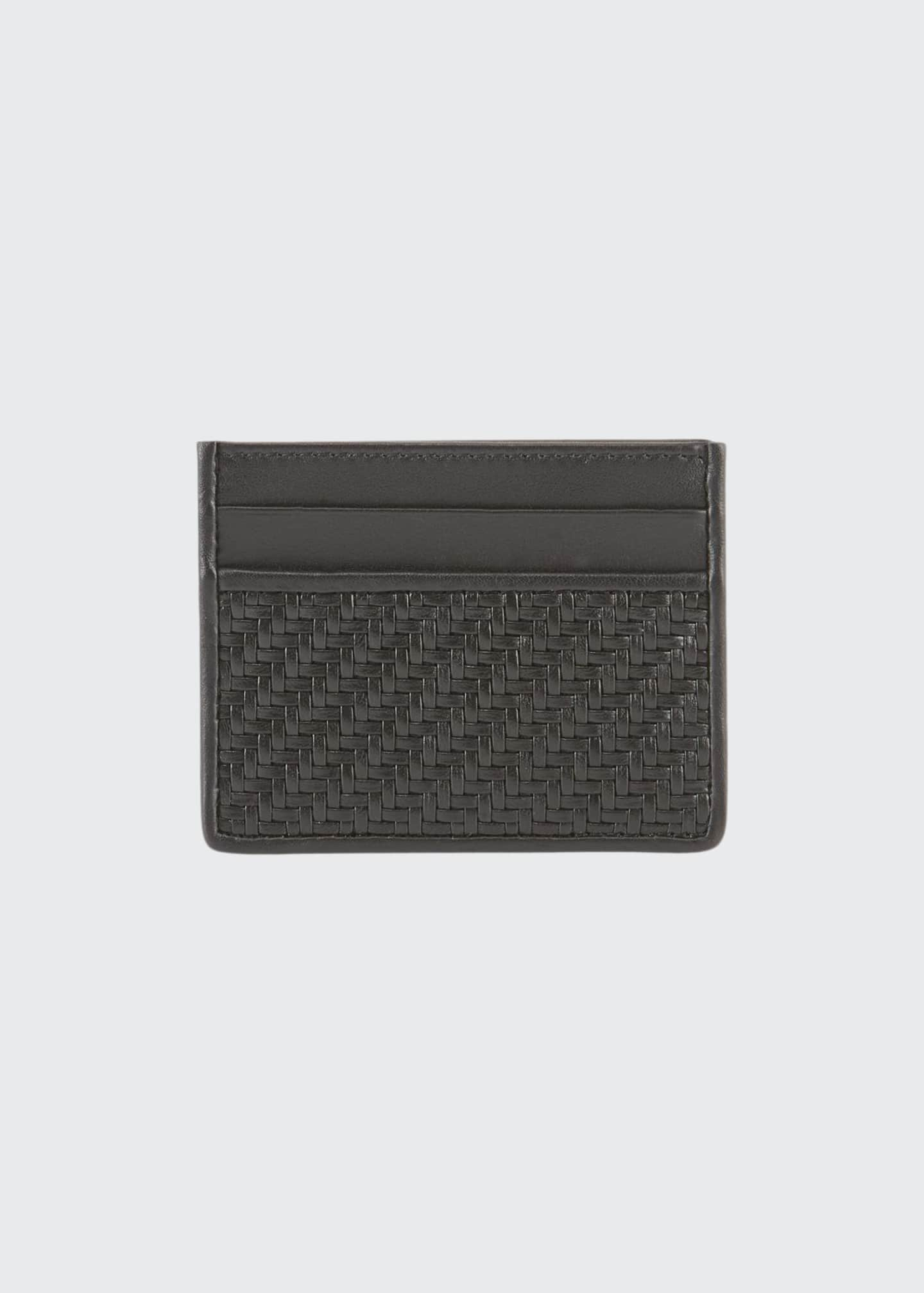 Men's Pelle Tessuta Leather Card Case