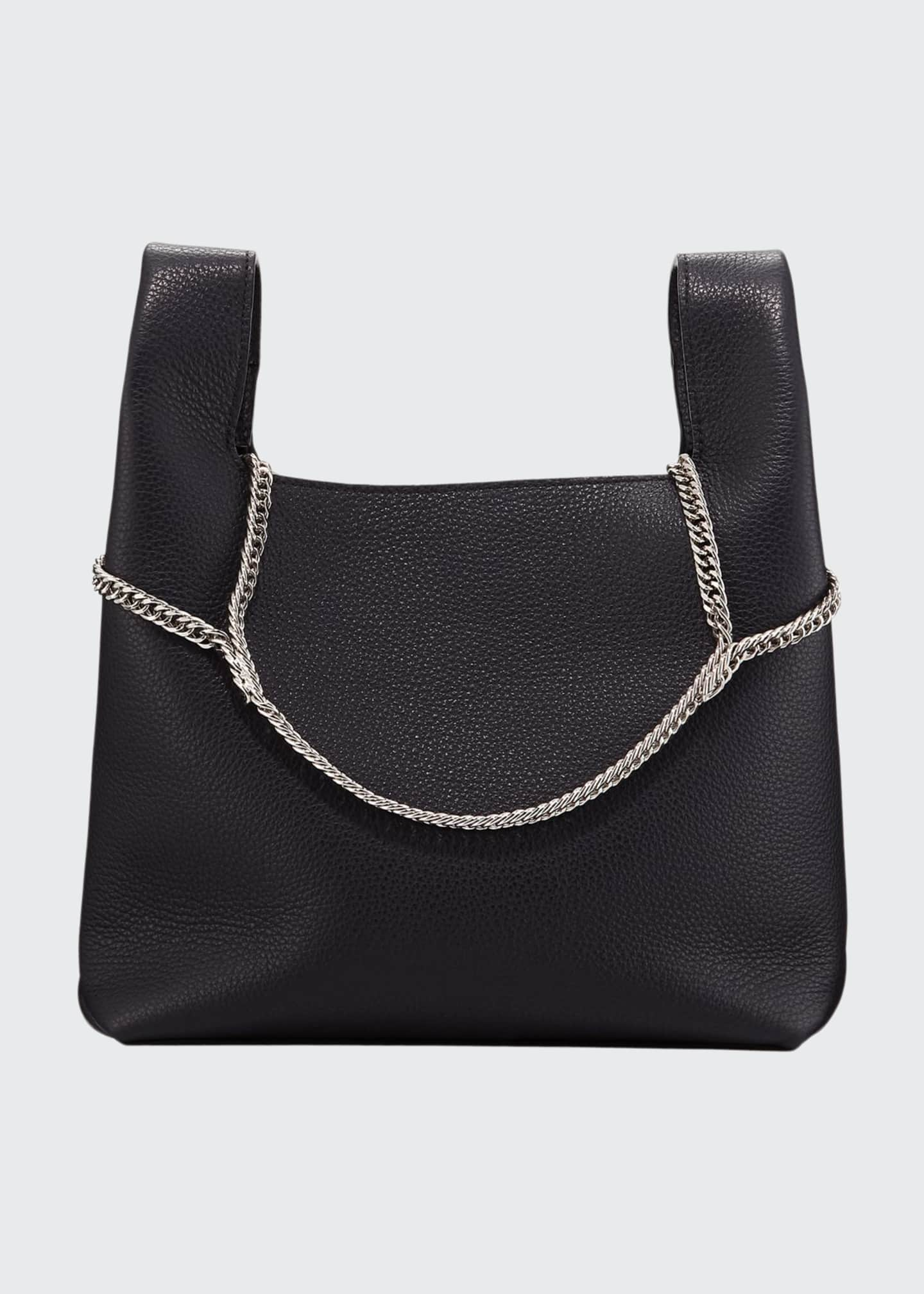 Hayward Pebbled Leather Chain Bag, Navy