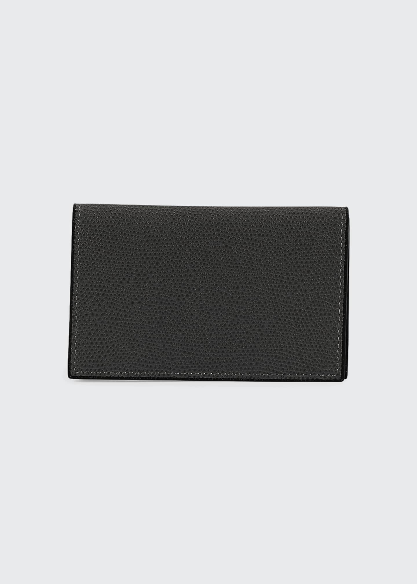 Valextra Saffiano Pebbled Business Card Case