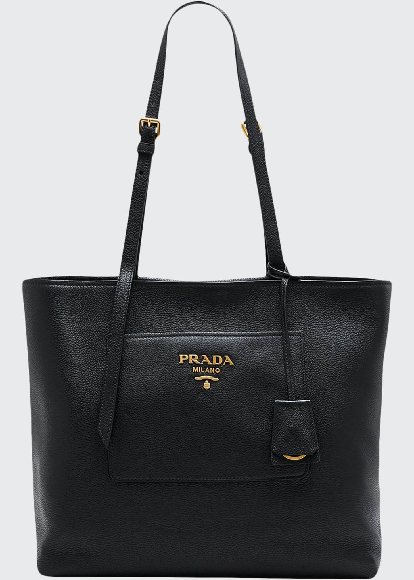 Prada Diano Small Leather Tote Bag