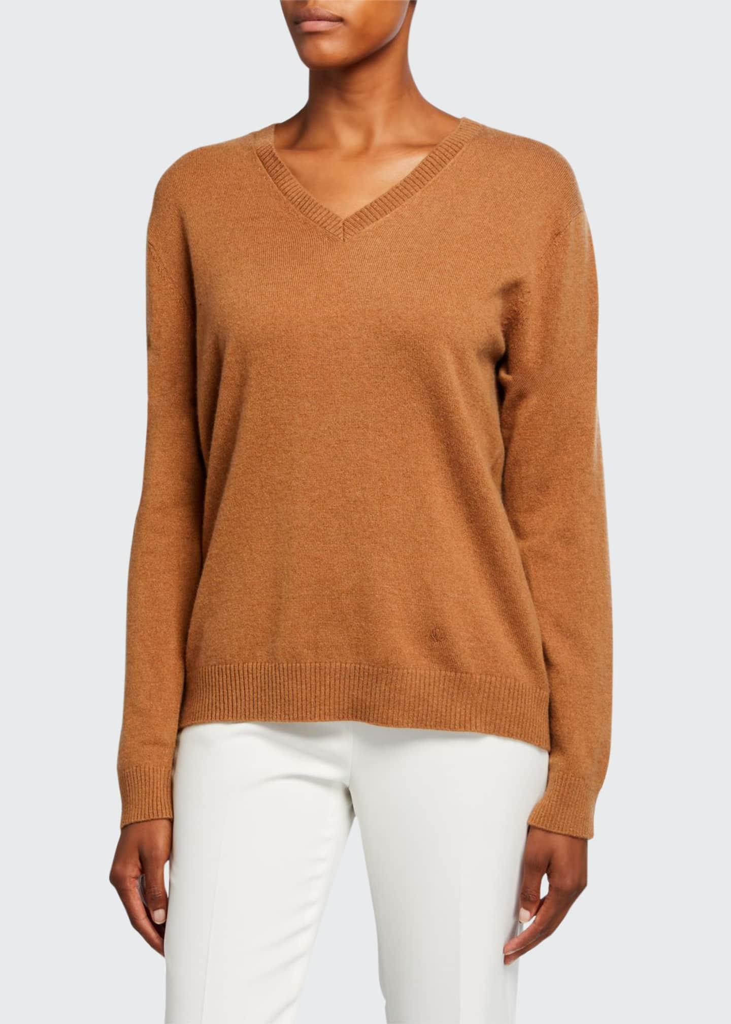 Loulou Studio V-Neck Classic Cashmere Sweater