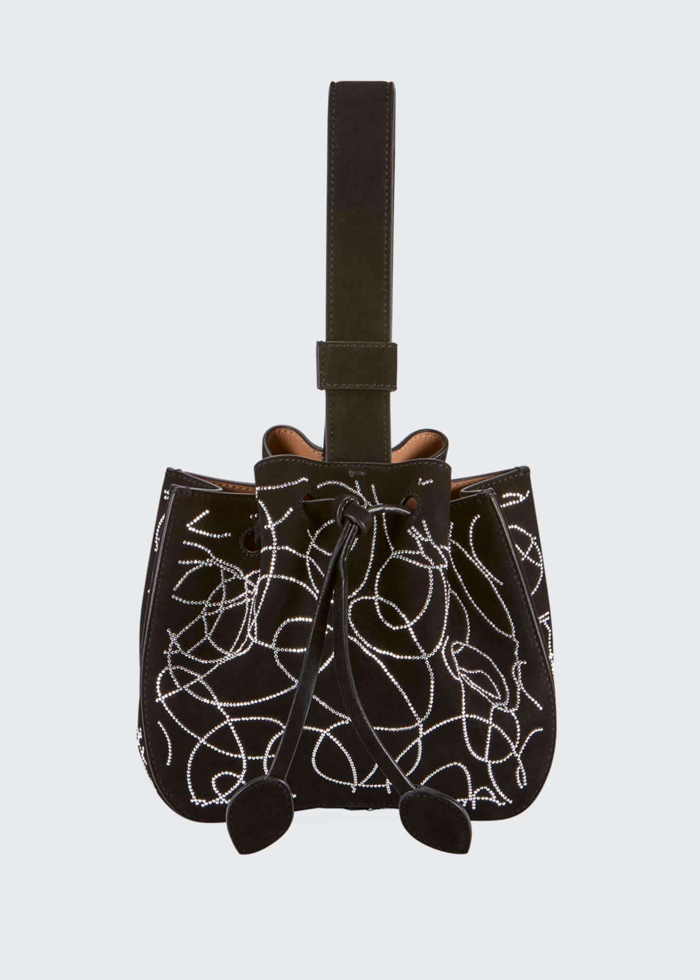 ALAIA Rose Marie Mini Suede Bucket Bag