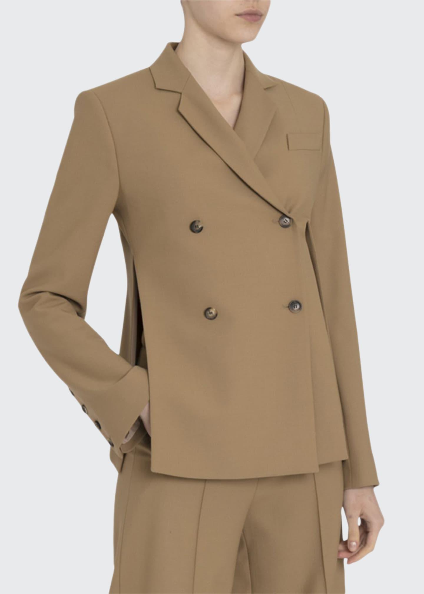Rokh Asymmetric Split-Side Blazer Jacket