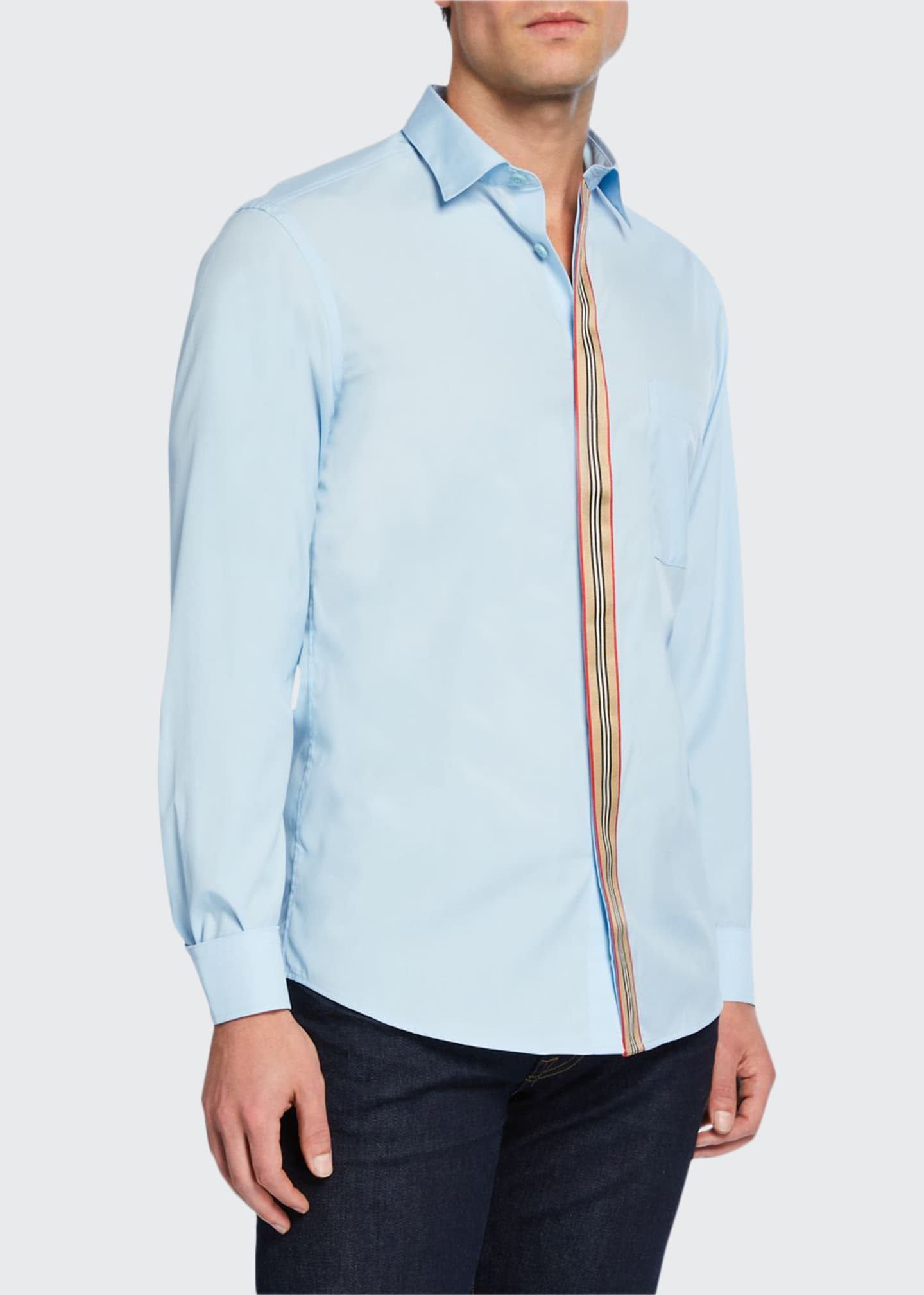 Burberry Men's Icon Striped Tape Oxford Shirt