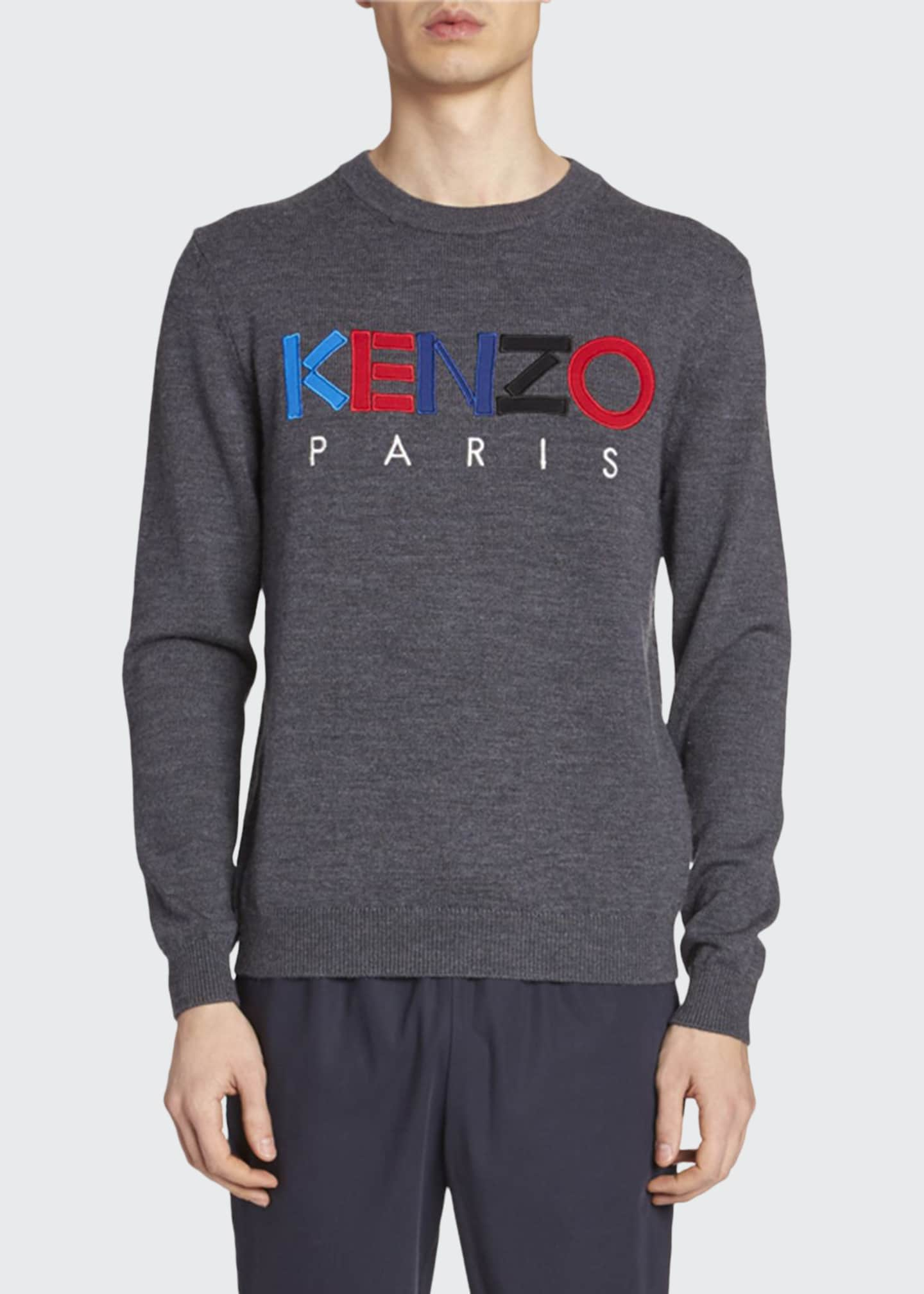 Image 1 of 2: Men's Embroidered Logo Sweater