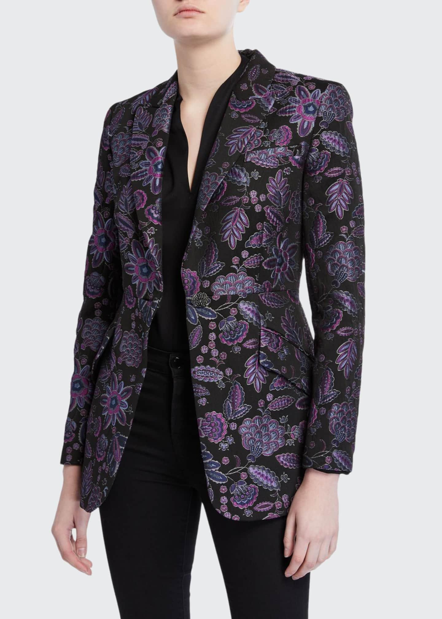 Elie Tahari Madison Floral Embroidered Jacket