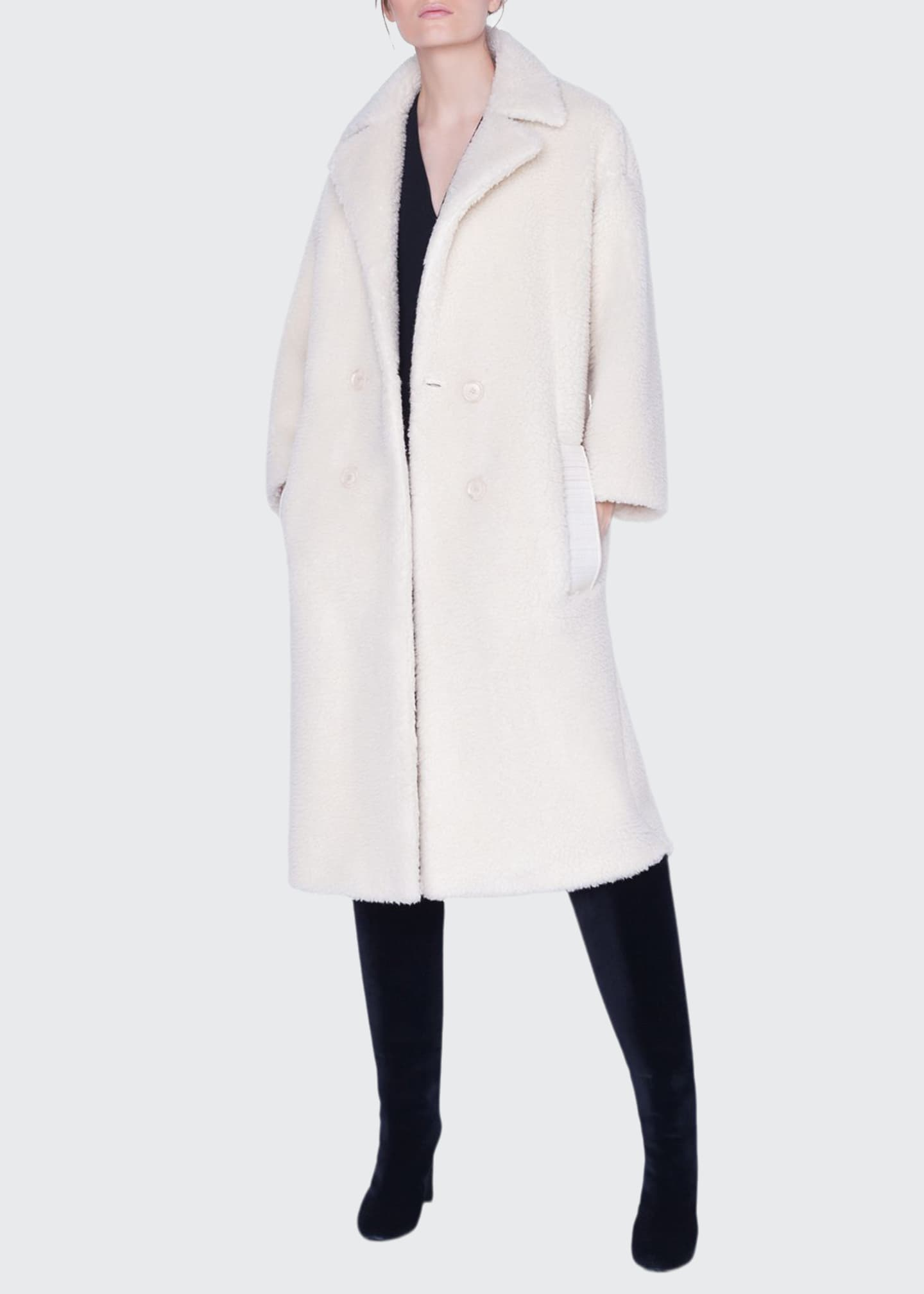 Akris Fluffy Midi Coat