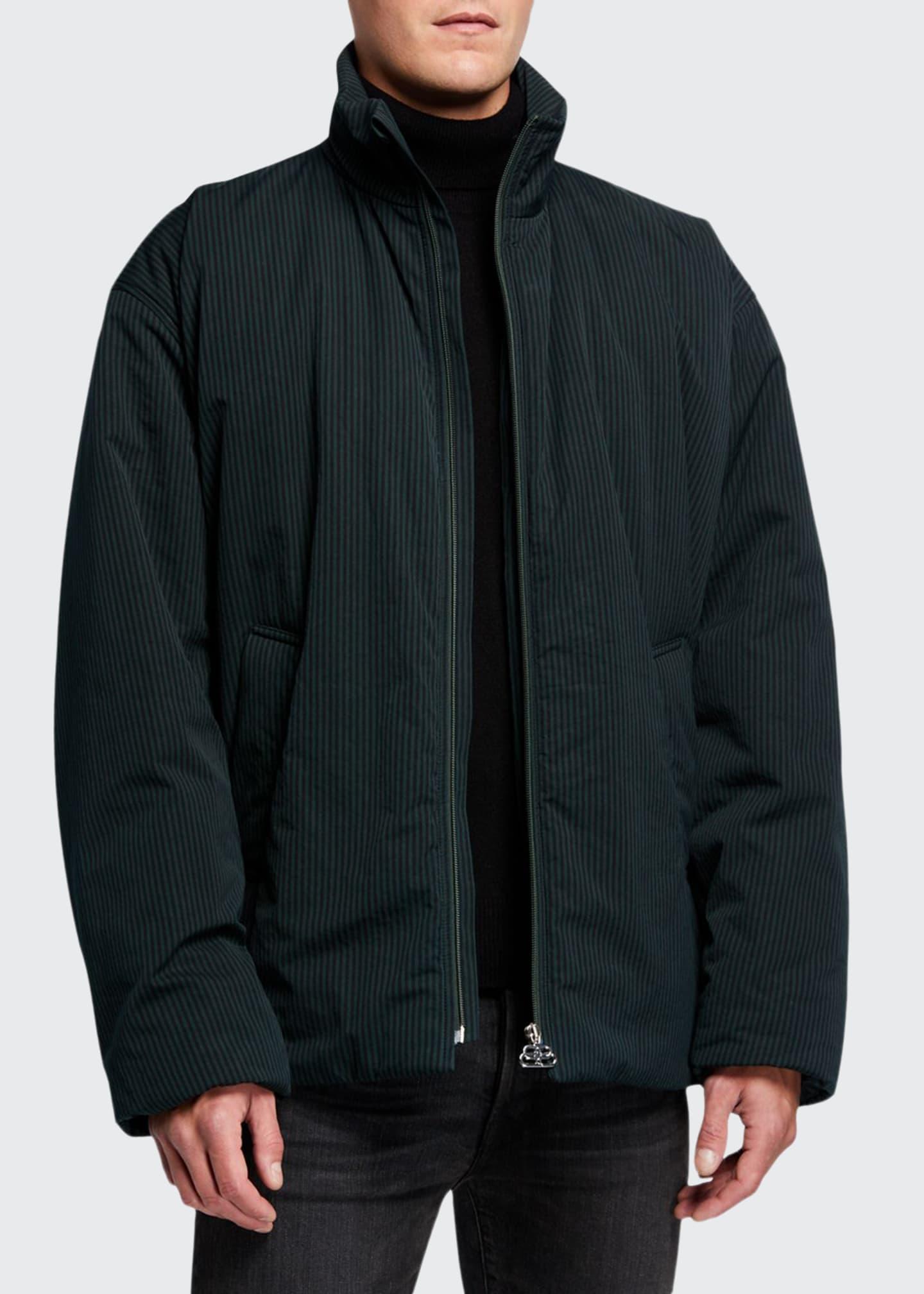 Balenciaga Men's Bengal Stripe Cocoon Track Jacket