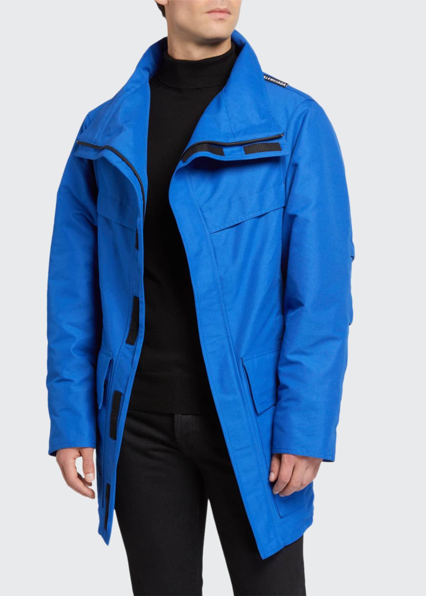 Balenciaga Men's High-Neck Zip-Front Puffer Coat