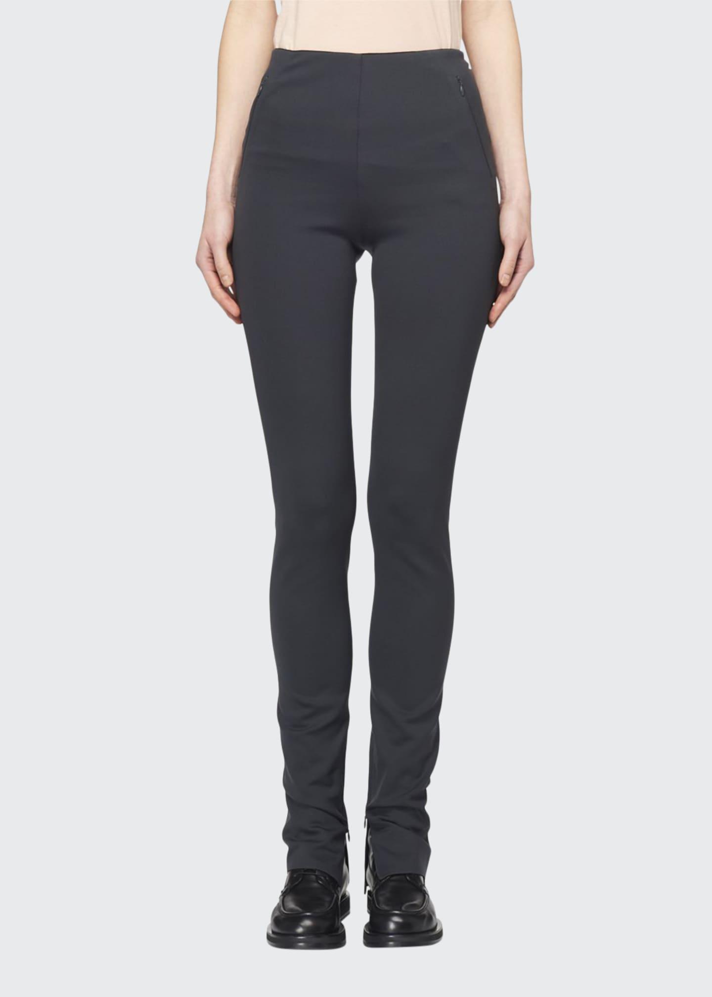 THE ROW Corza High-Rise Skinny Scuba Pants