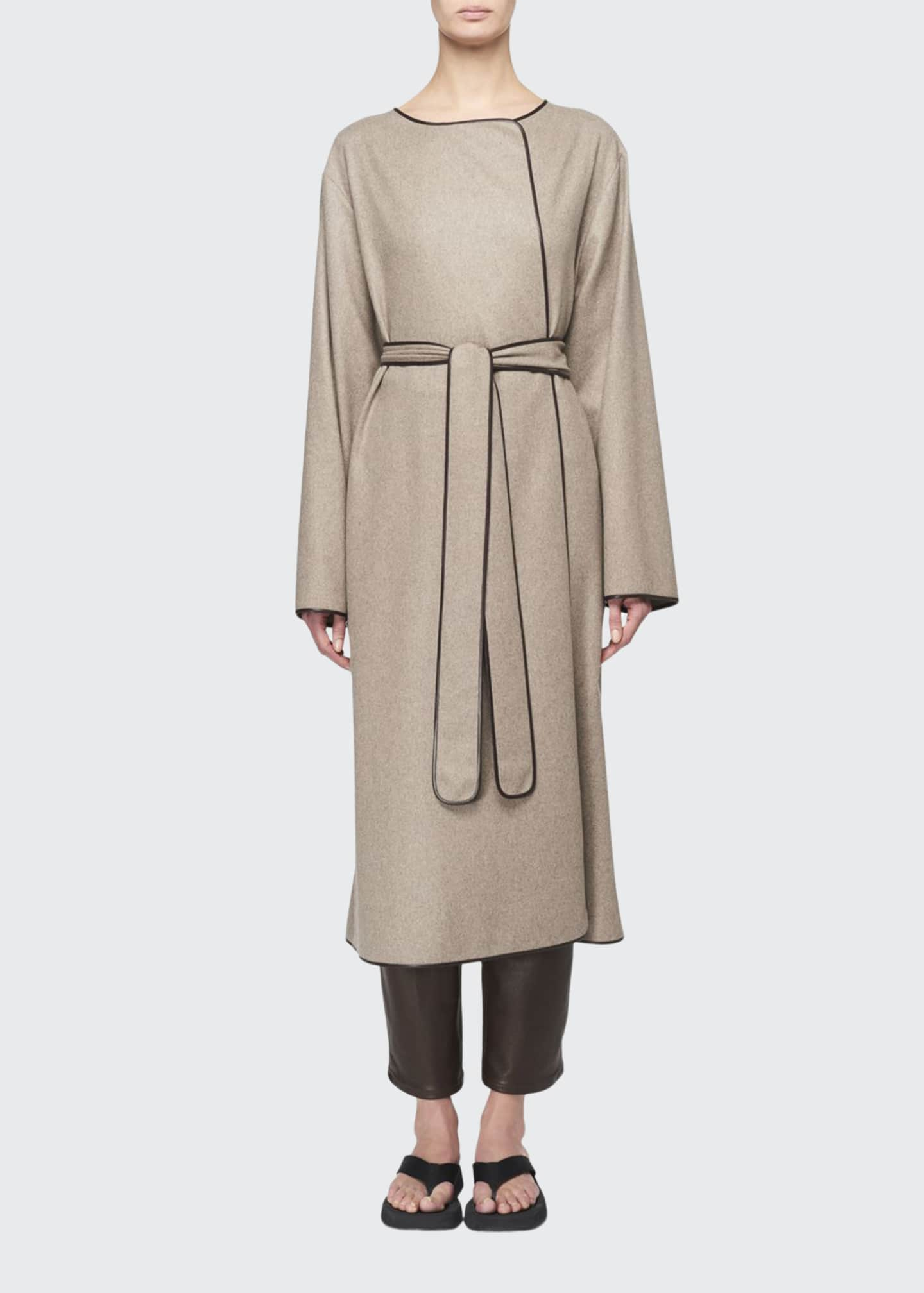 THE ROW Helga Cashmere Belted Wrap Coat
