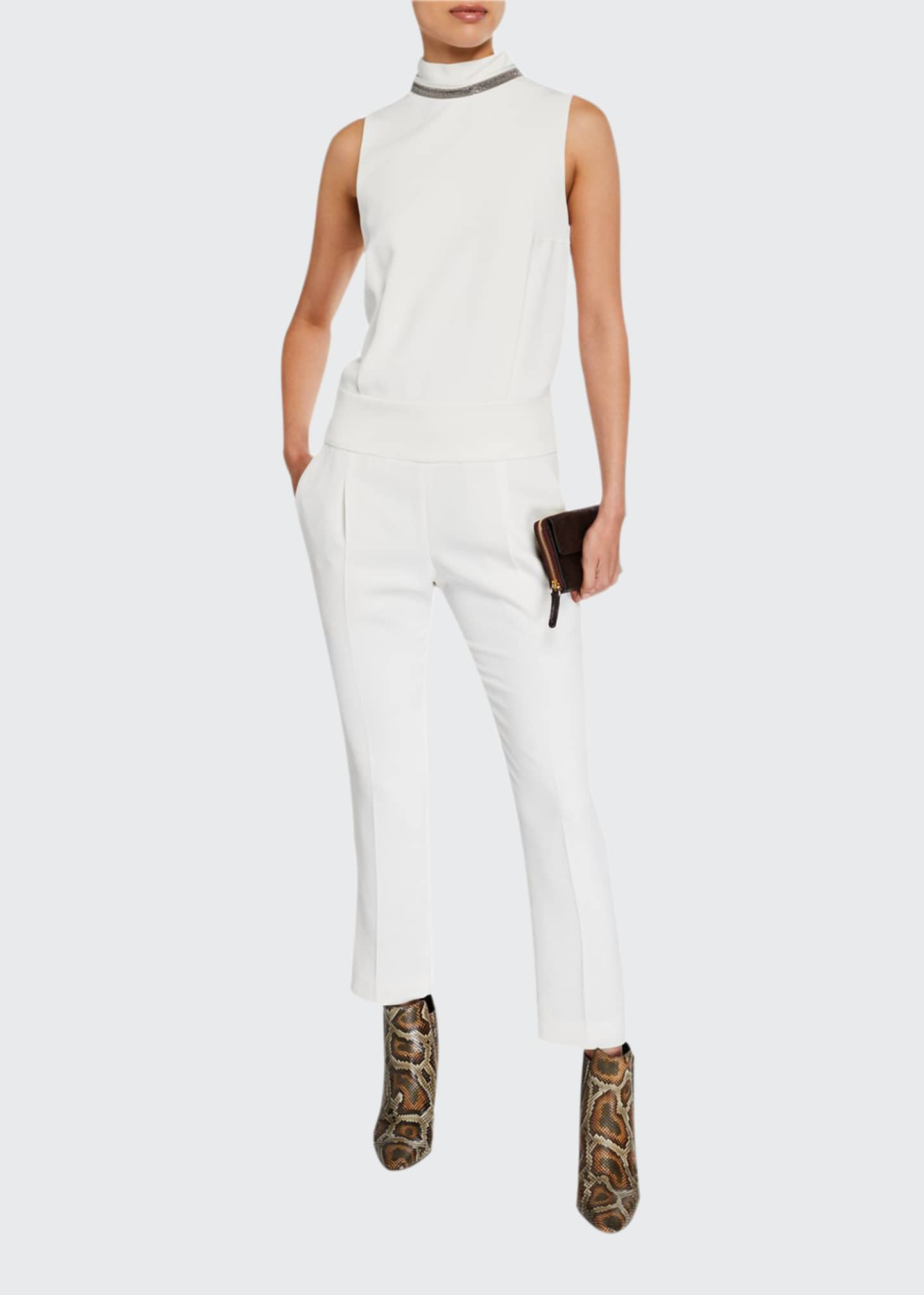 Brunello Cucinelli Sleeveless Monili-Beaded Jumpsuit