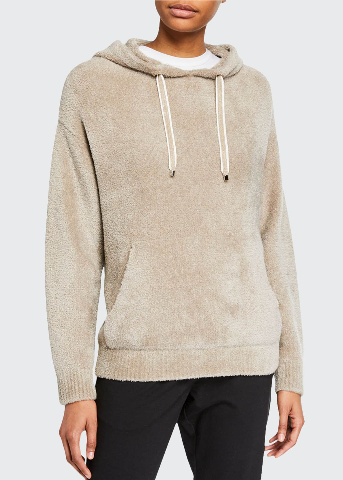 Brunello Cucinelli Cashmere Shimmer Cozy Knit Hoodie