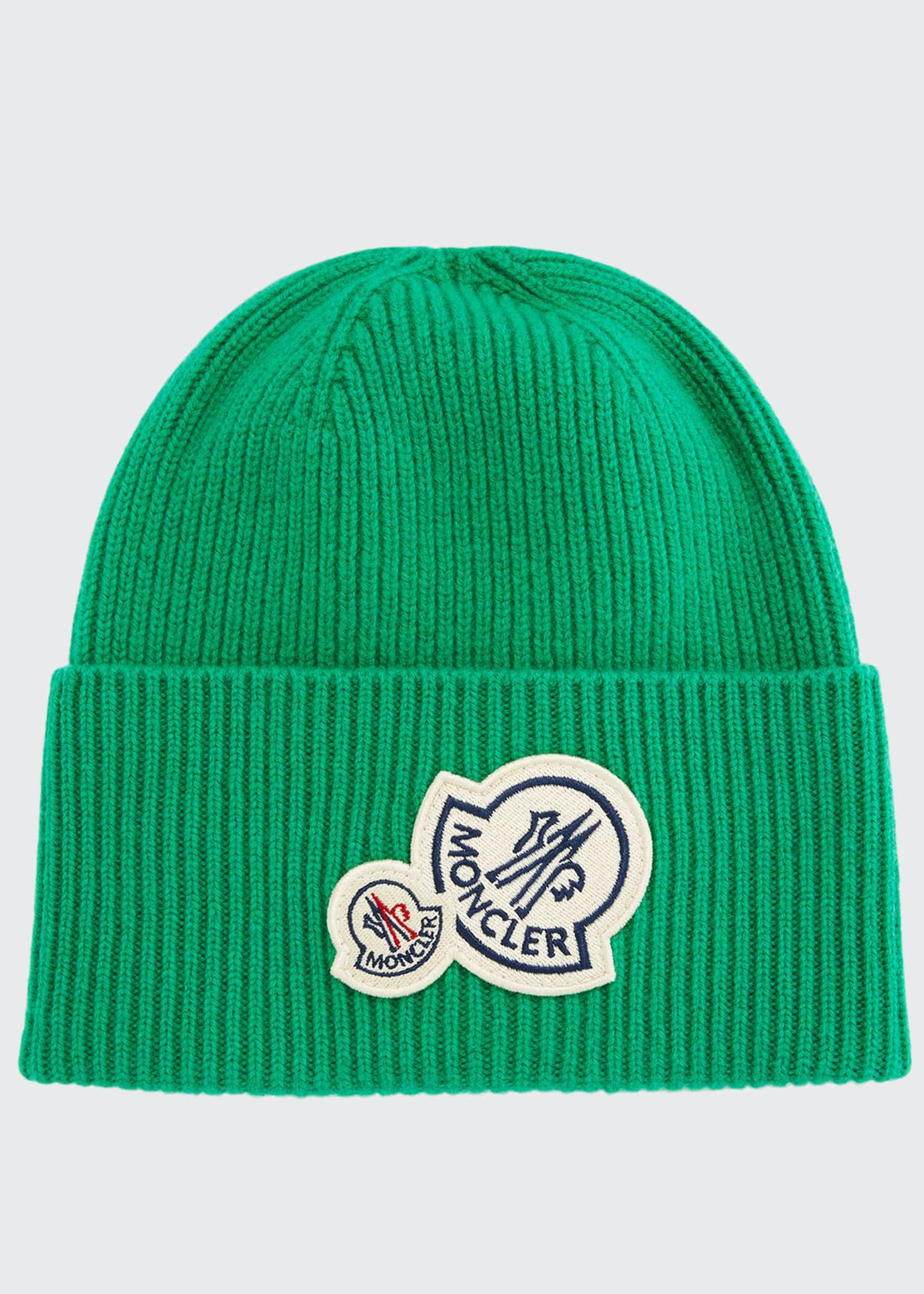 Image 1 of 1: Men's Double-Patch Cuffed Beanie Hat