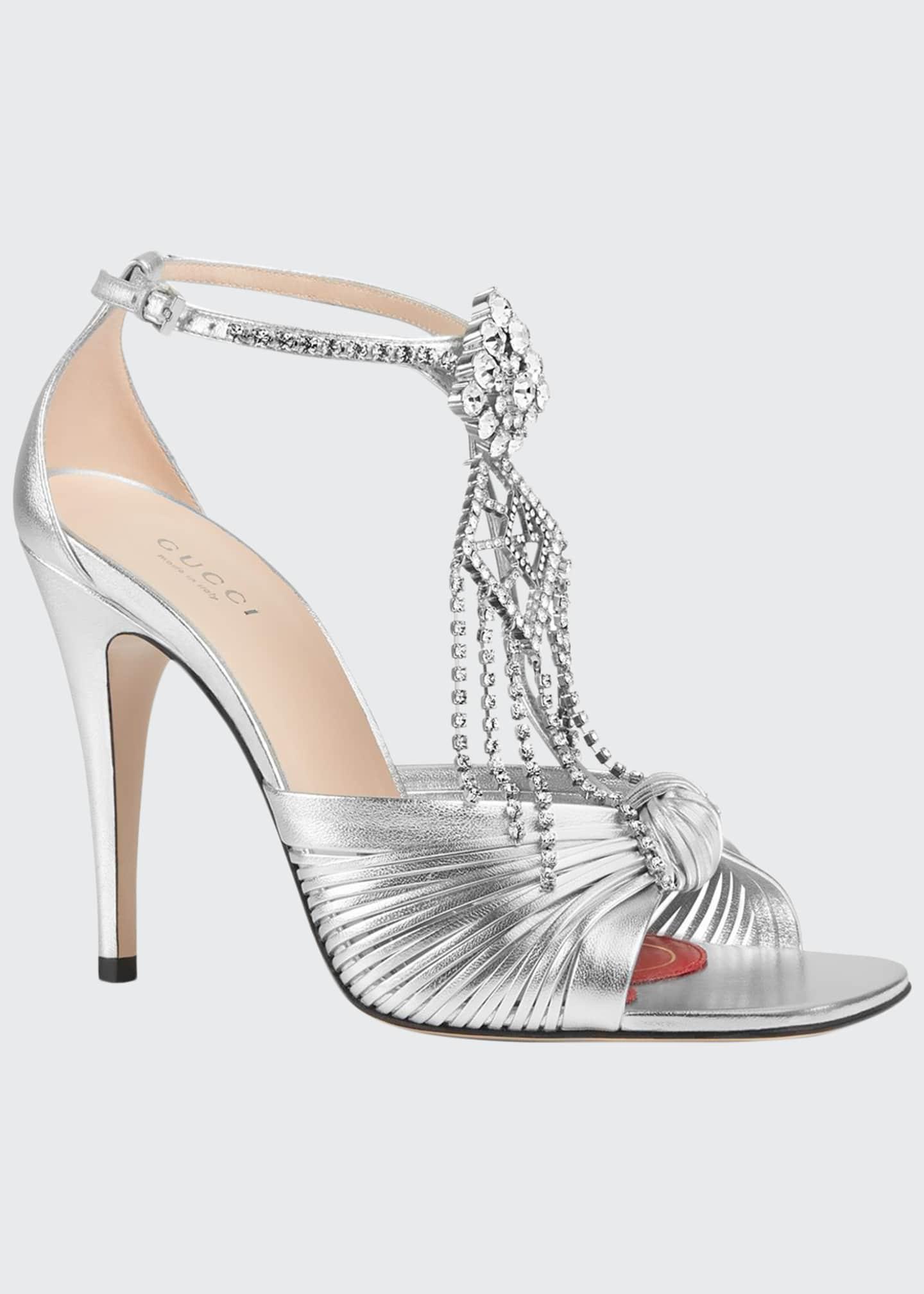 Gucci Crawford Napa Silk Sandals