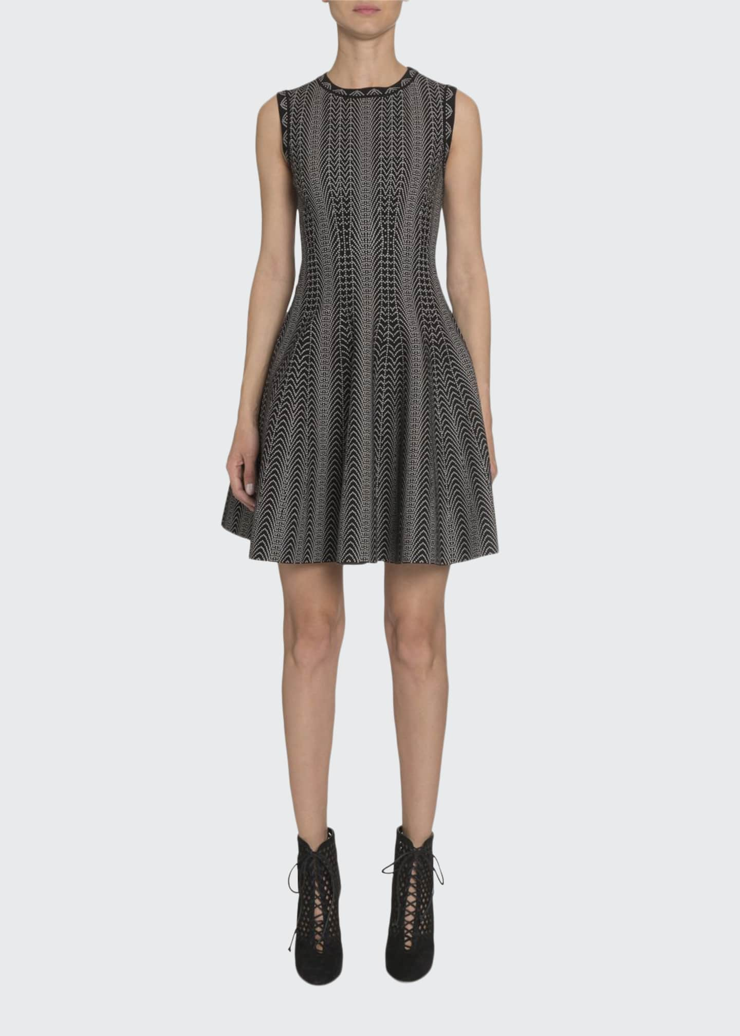 ALAIA Dot-Print Fit-&-Flare Dress