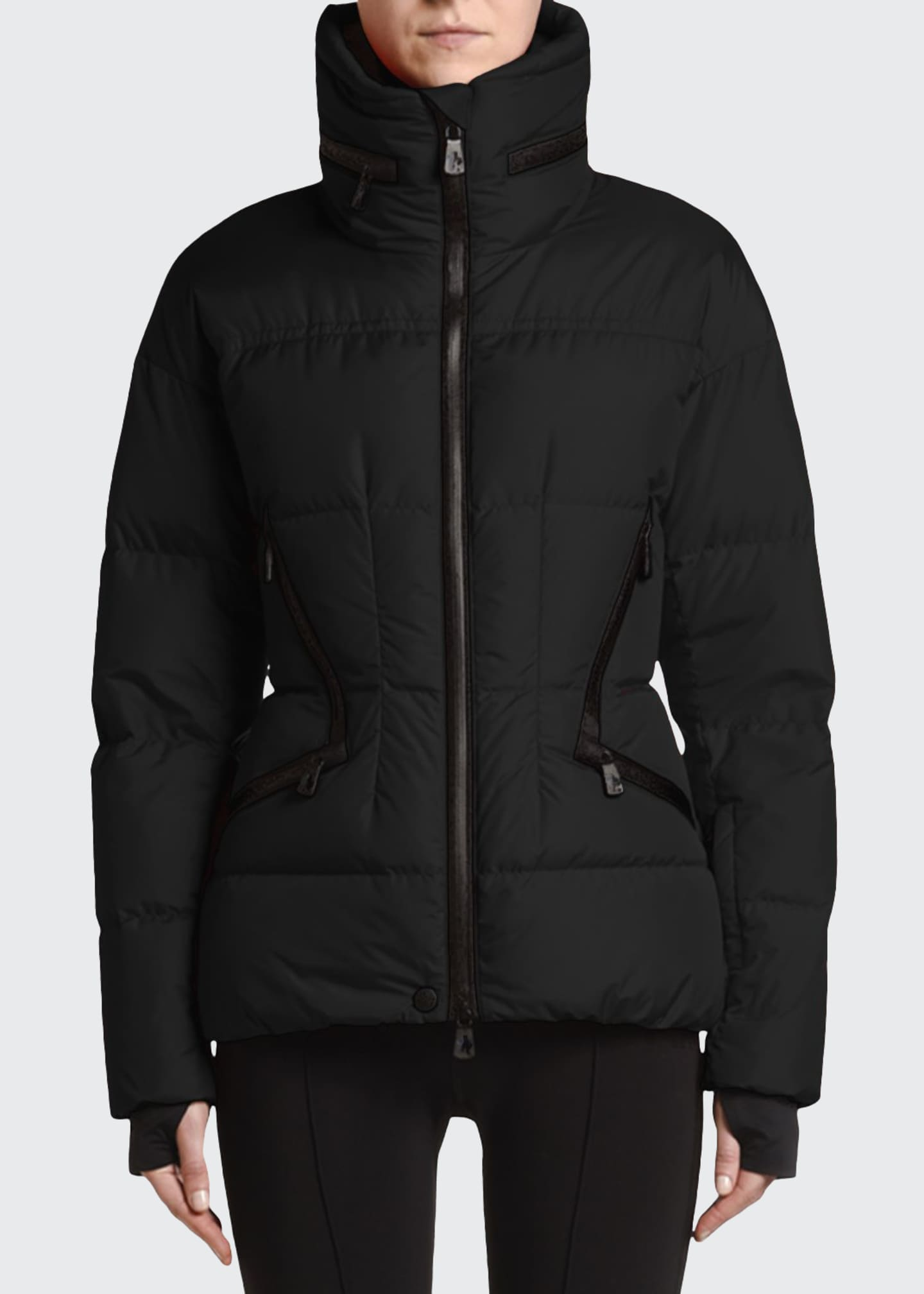 Image 1 of 4: Stand-Collar Fitted Down Dixence Jacket