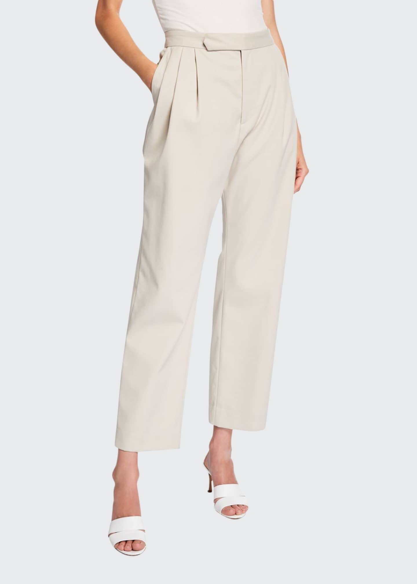 Deveaux New York Isabella Pleated Repellant Twill Pants