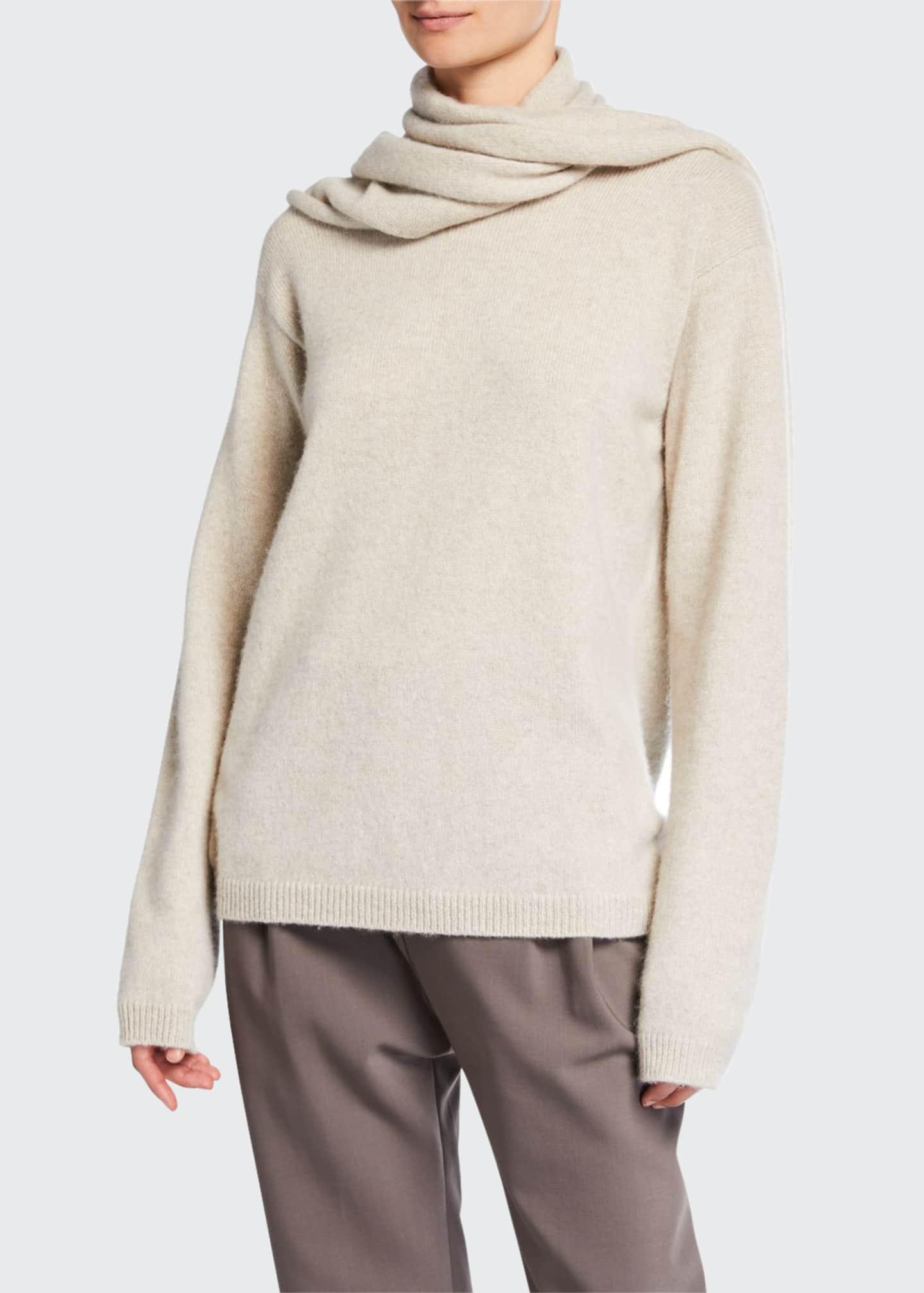 Deveaux New York Cashmere Scarf Sweater