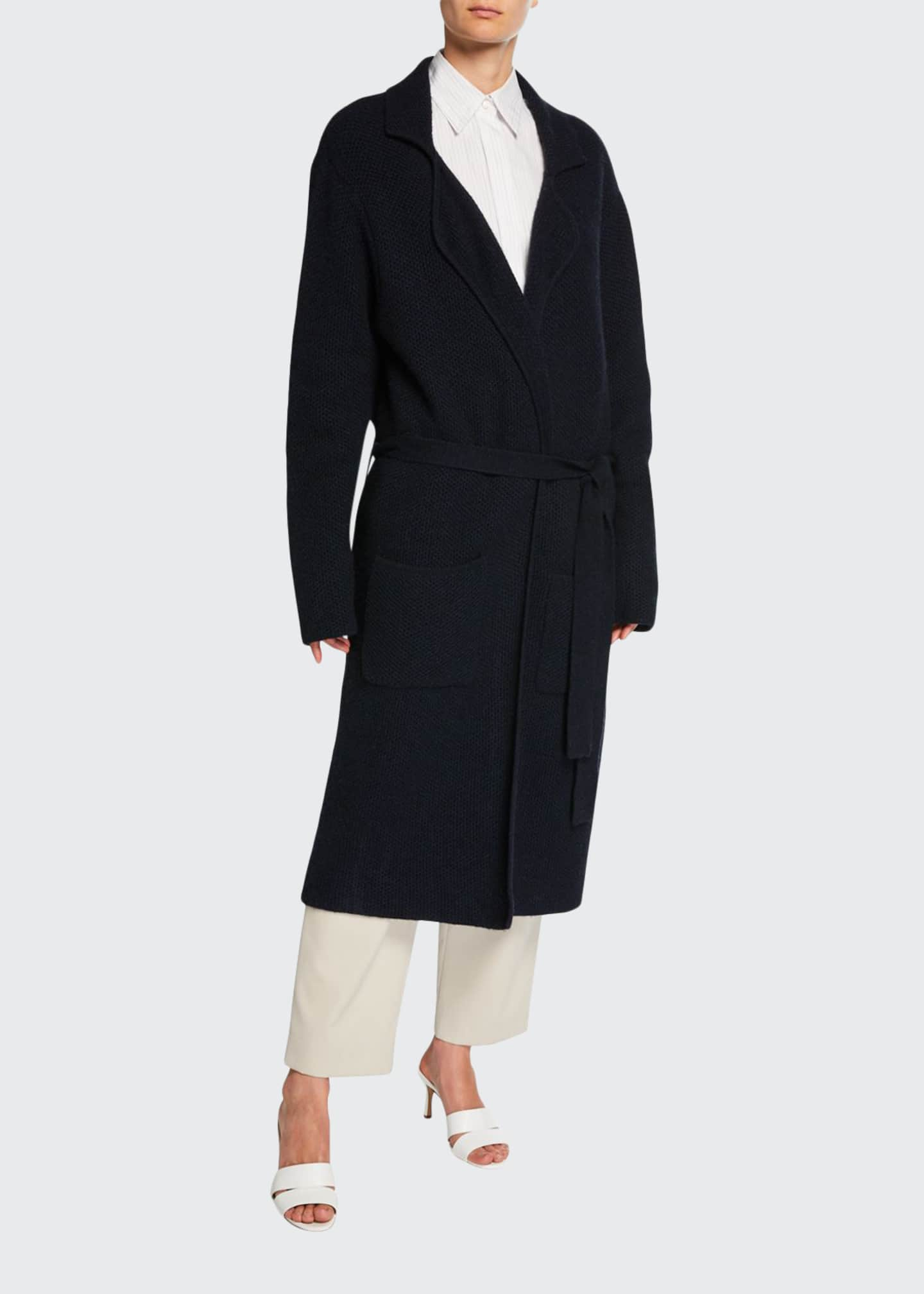 Deveaux New York Cashmere Belted Cardigan Coat