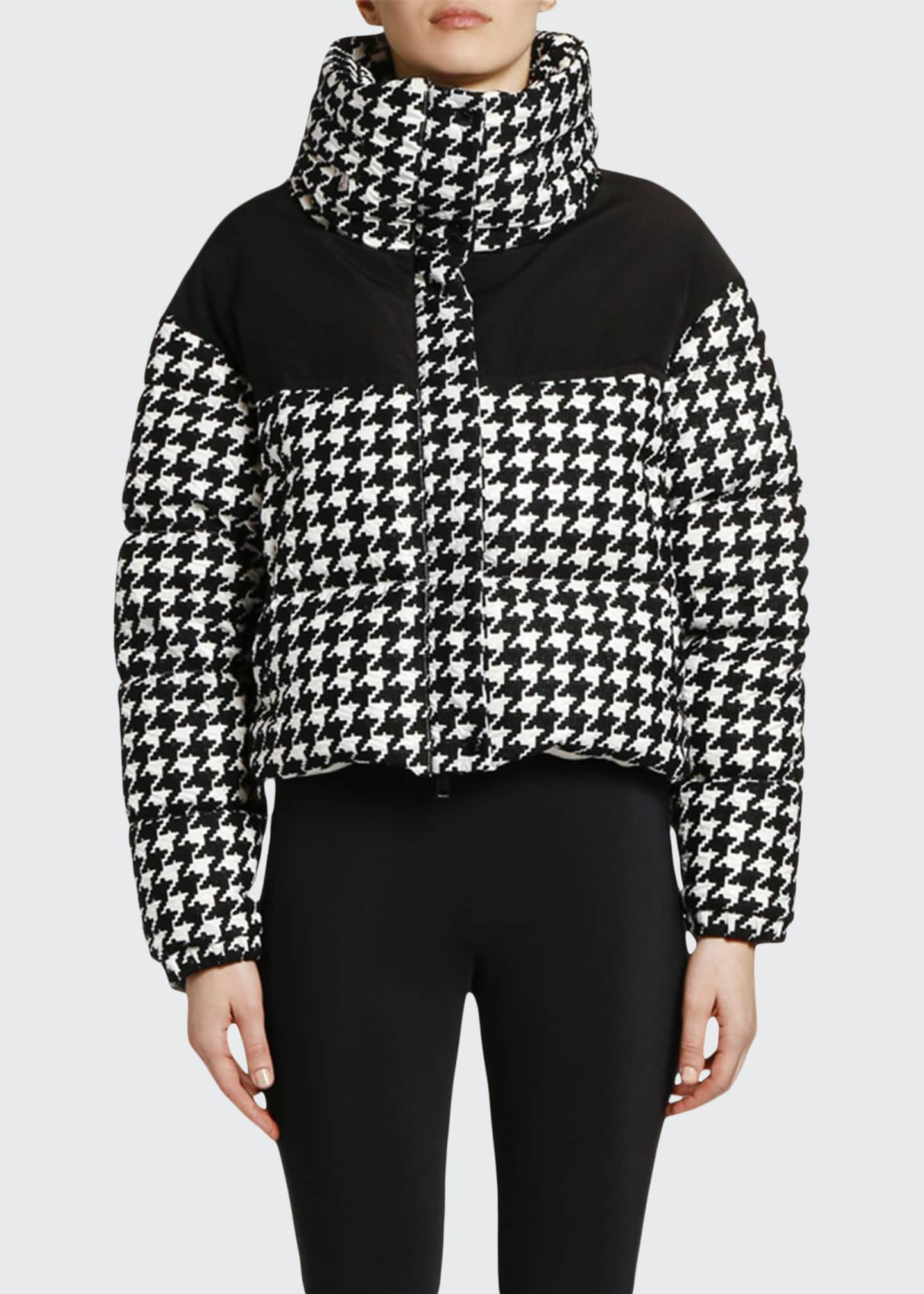 Image 1 of 2: Nil Houndstooth Puffer Jacket