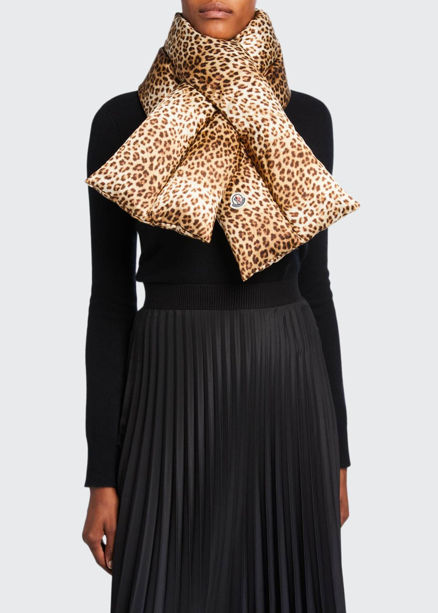 Animal-Print Pull-Through Scarf