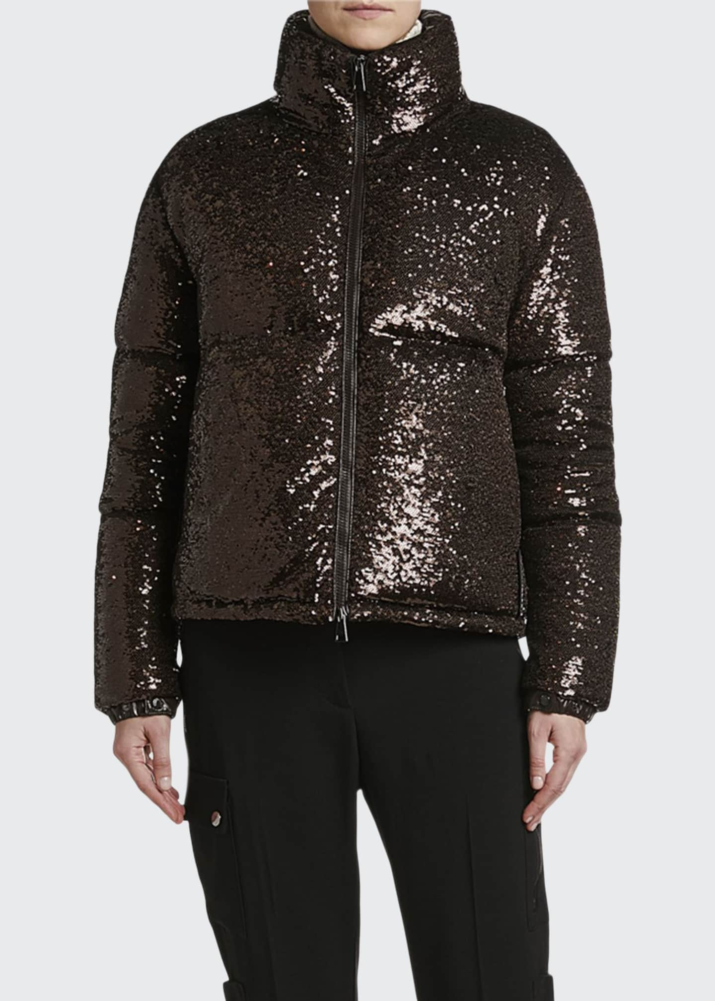 Image 1 of 3: Rimac Sequined Puffer Jacket