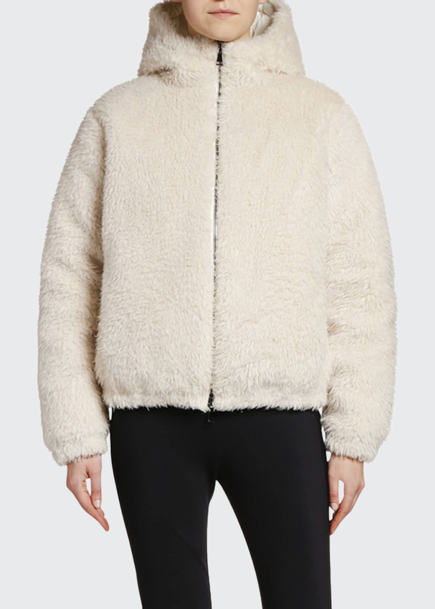 Image 1 of 2: Kolima Reversible Faux Fur Jacket w/ Hood