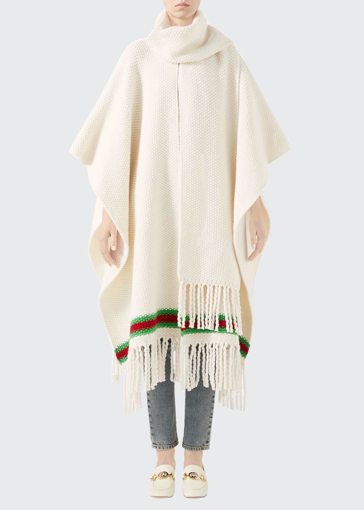 Image 1 of 4: Oversized Wool Moss Scarf Cape